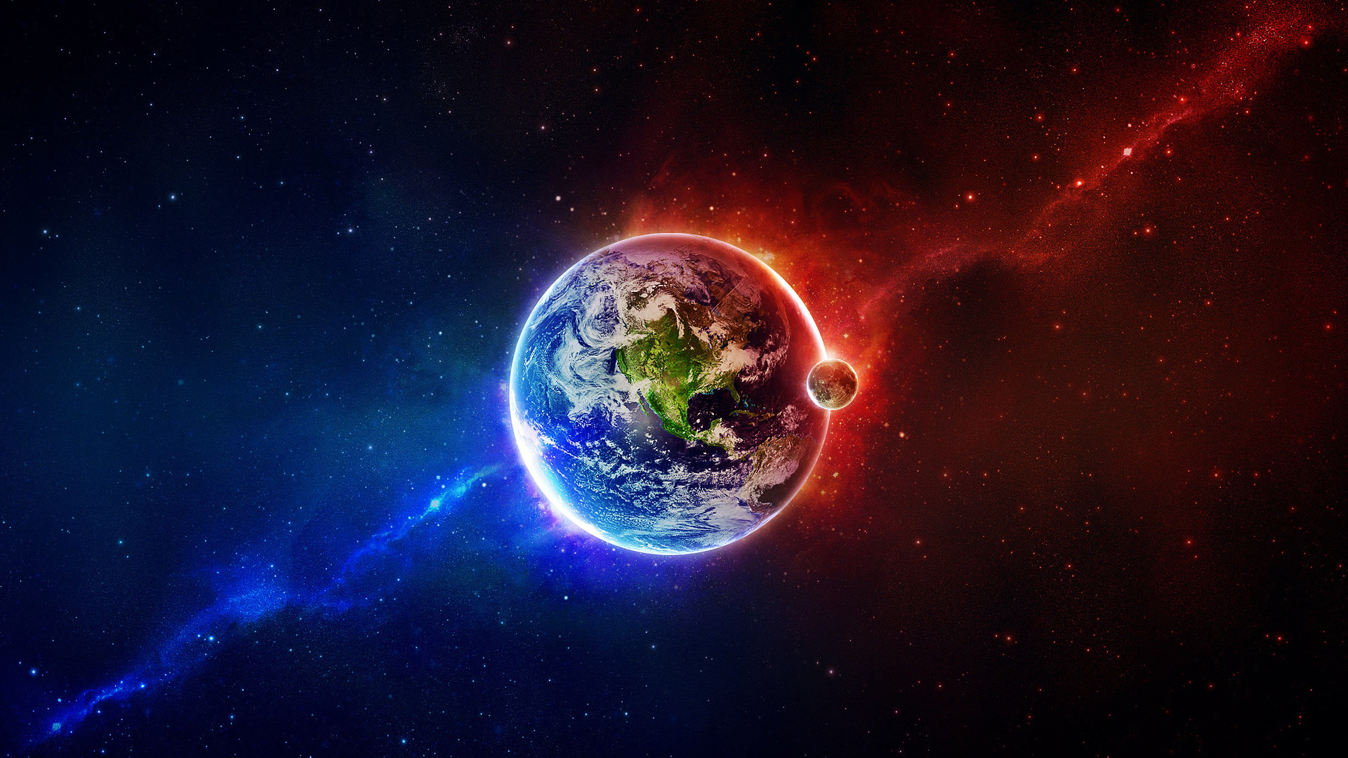 1920x1080 Wallpaper Earth Planet Space