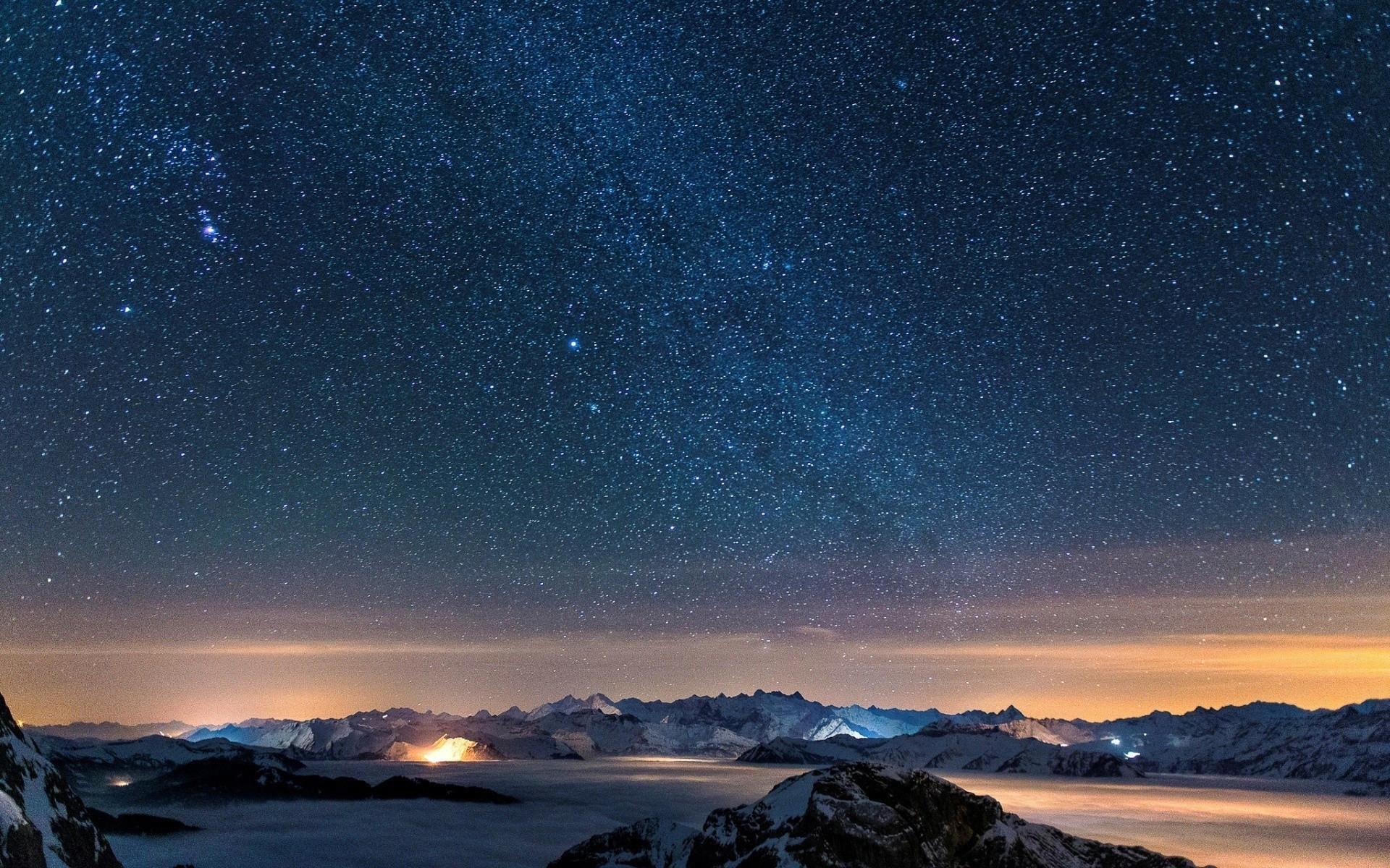 1920x1200 Starry Night Sky Desktop Wallpaper - WallpaperSafari ...