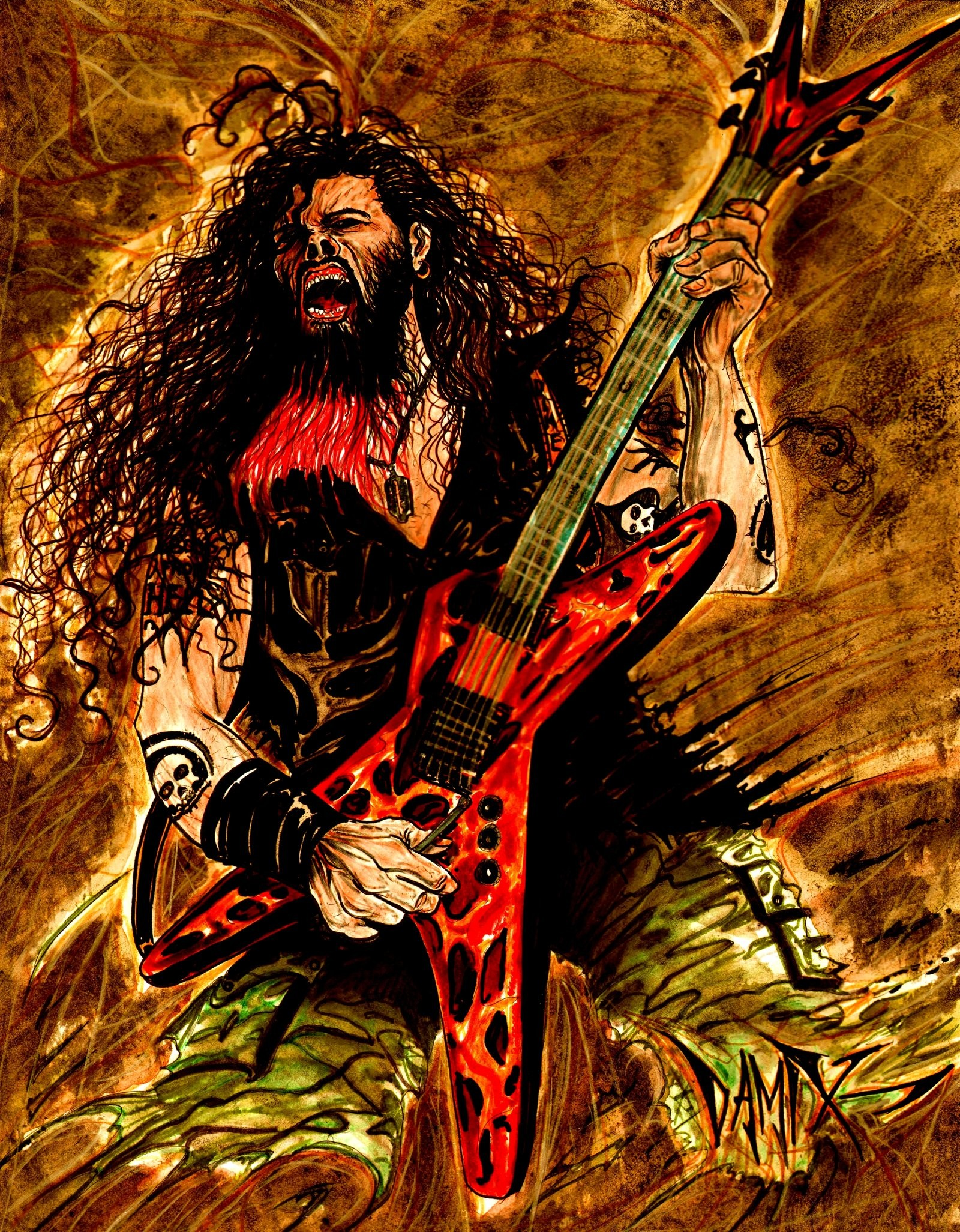 1600x2052 ... DIMEBAG DARREL 2012 by DAMIX by DAMIX-ART