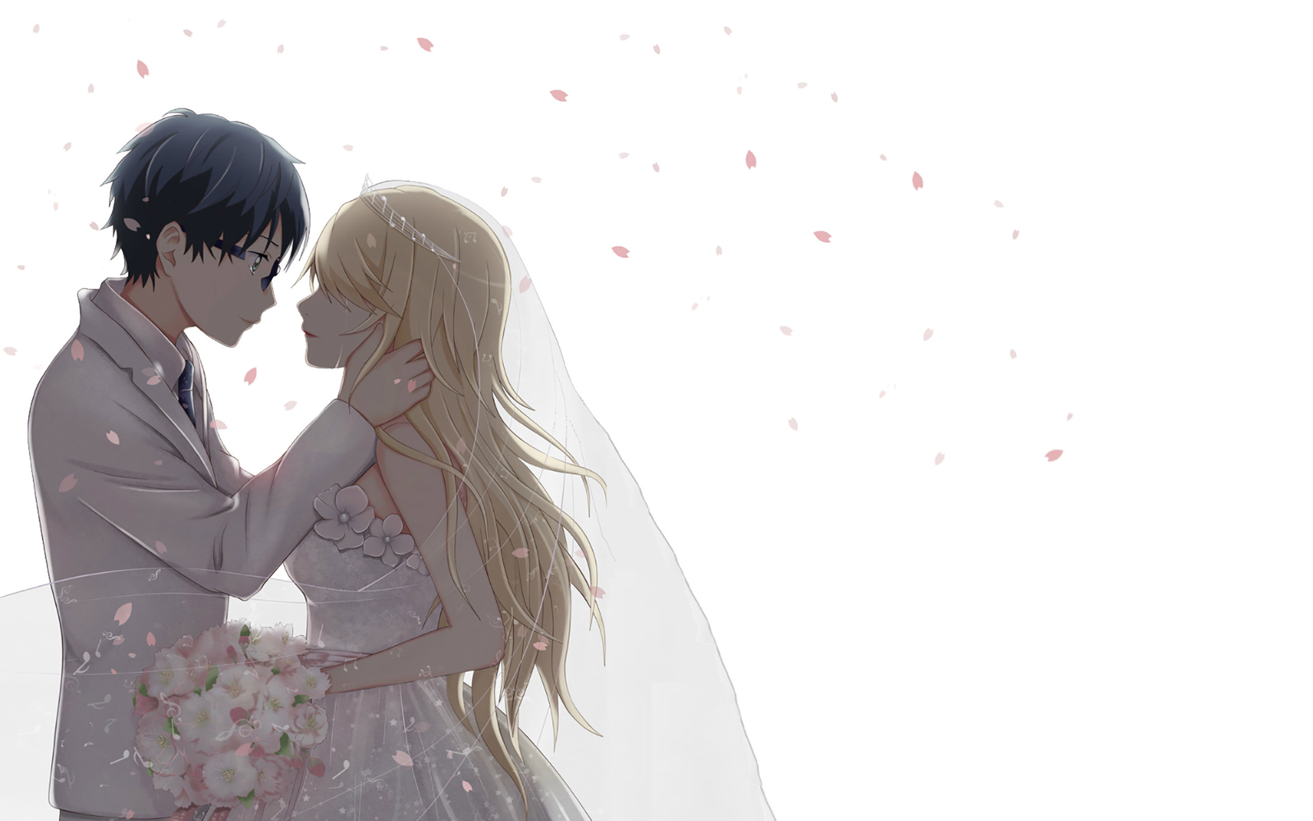 2560x1600 Anime Couple Beautiful HD Wallpaper For Laptop