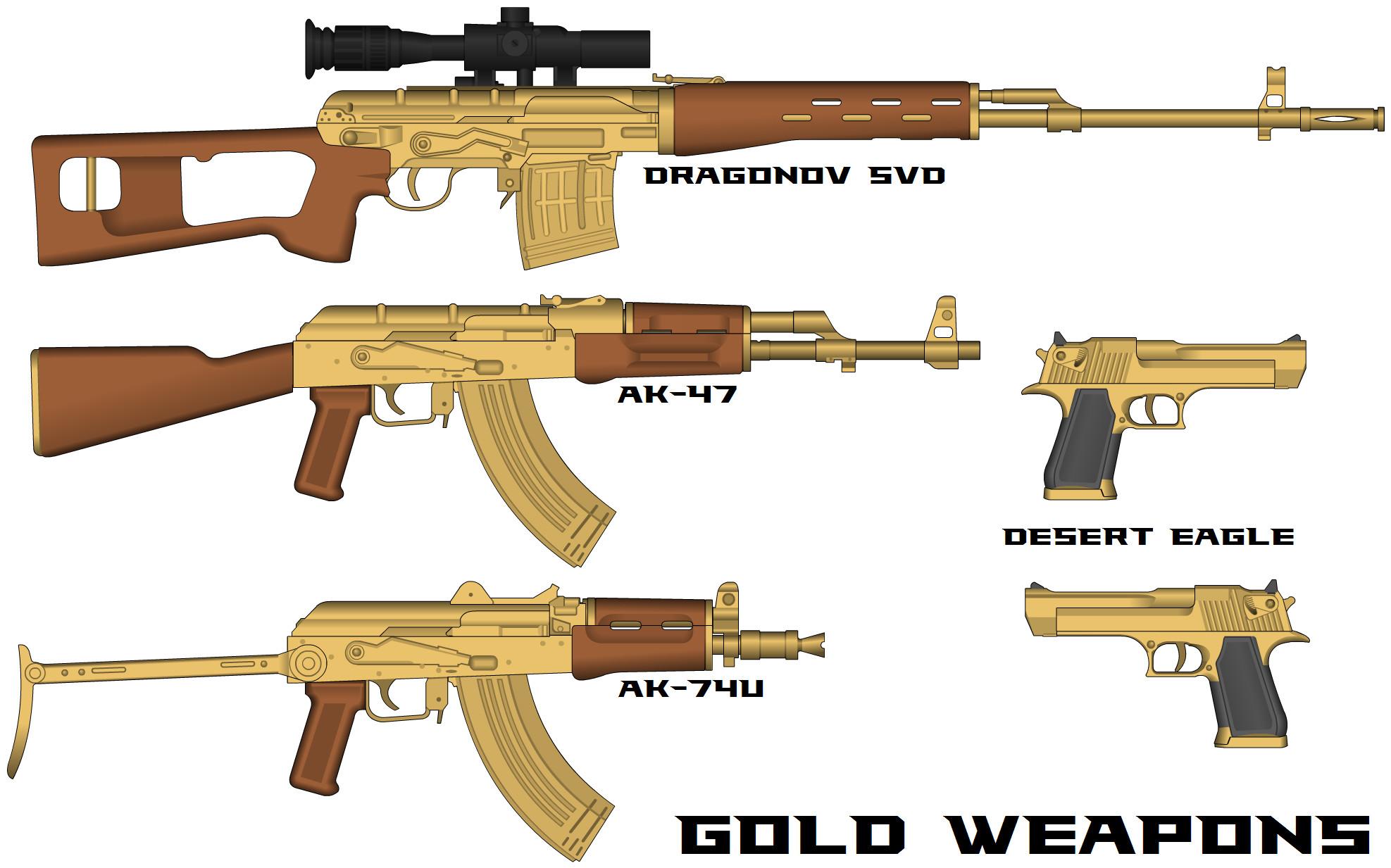 gold guns wallpaper ak 47 72 images. Black Bedroom Furniture Sets. Home Design Ideas
