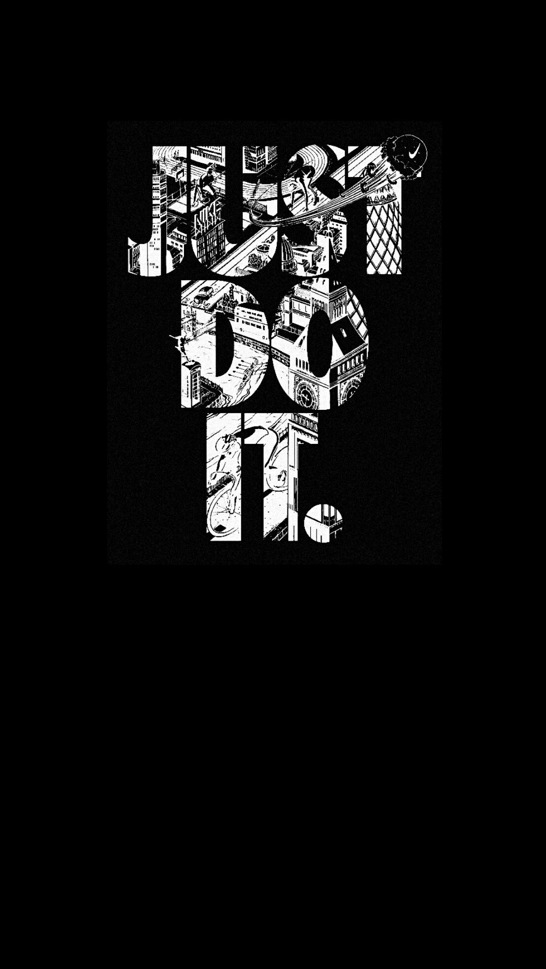 1107x1965 Nike Black Wallpaper IPhone Android