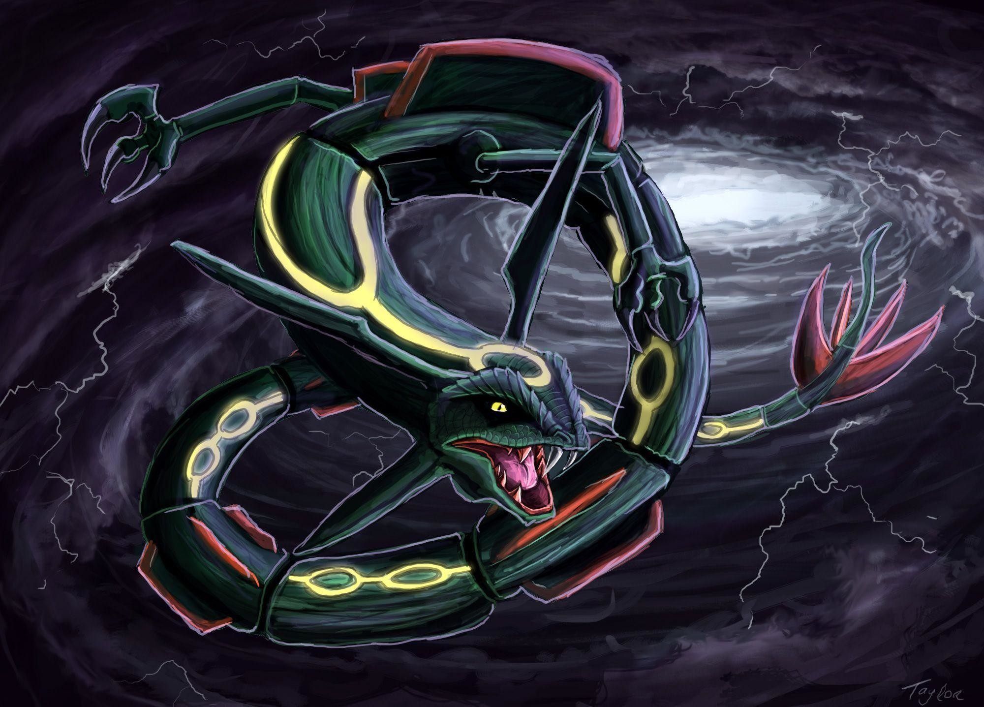 2000x1437 Pokemon Wallpaper Shiny Rayquaza - Viewing Gallery