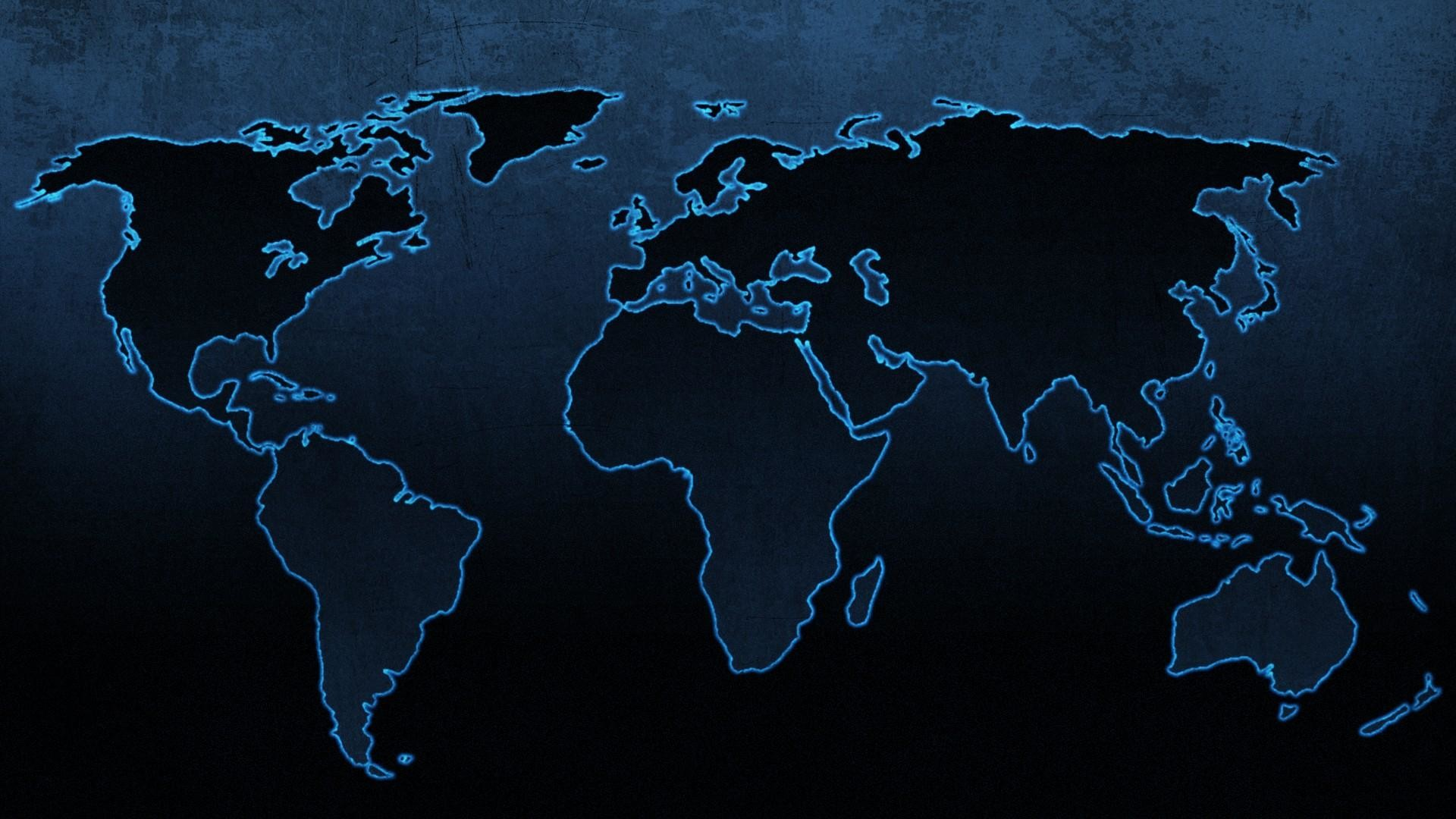 1920x1080 Blue continents maps world map wallpaper | (79192)