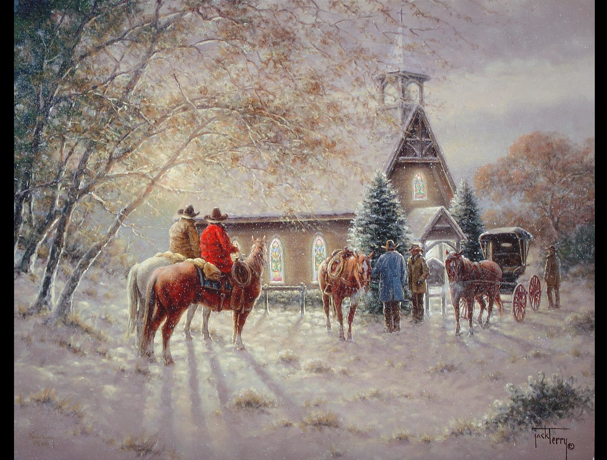 1944x1472 Victorian Christmas Scenes Wallpaper | Jack Terry - First Ones There