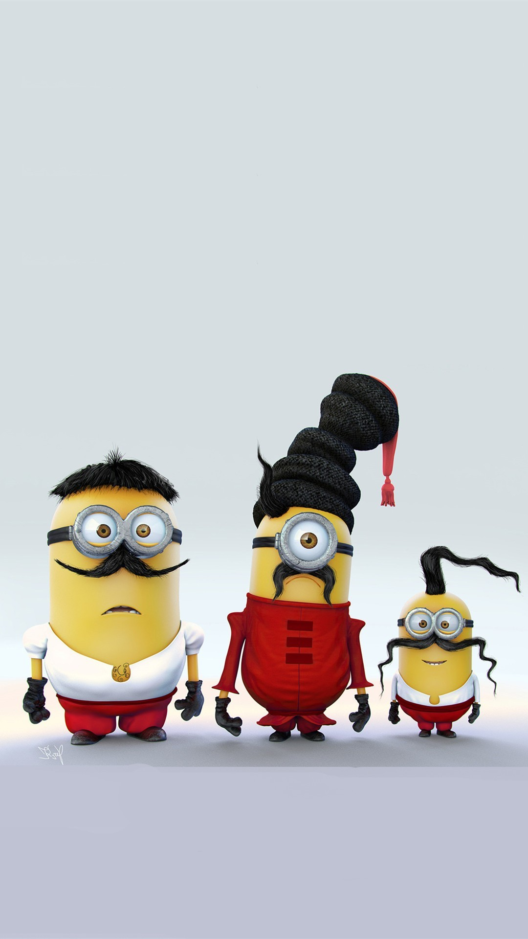 1080x1920 Minions with Mustache Family iPhone 6 Plus Wallpaper - HD, 2014 Halloween,  Despicable Me