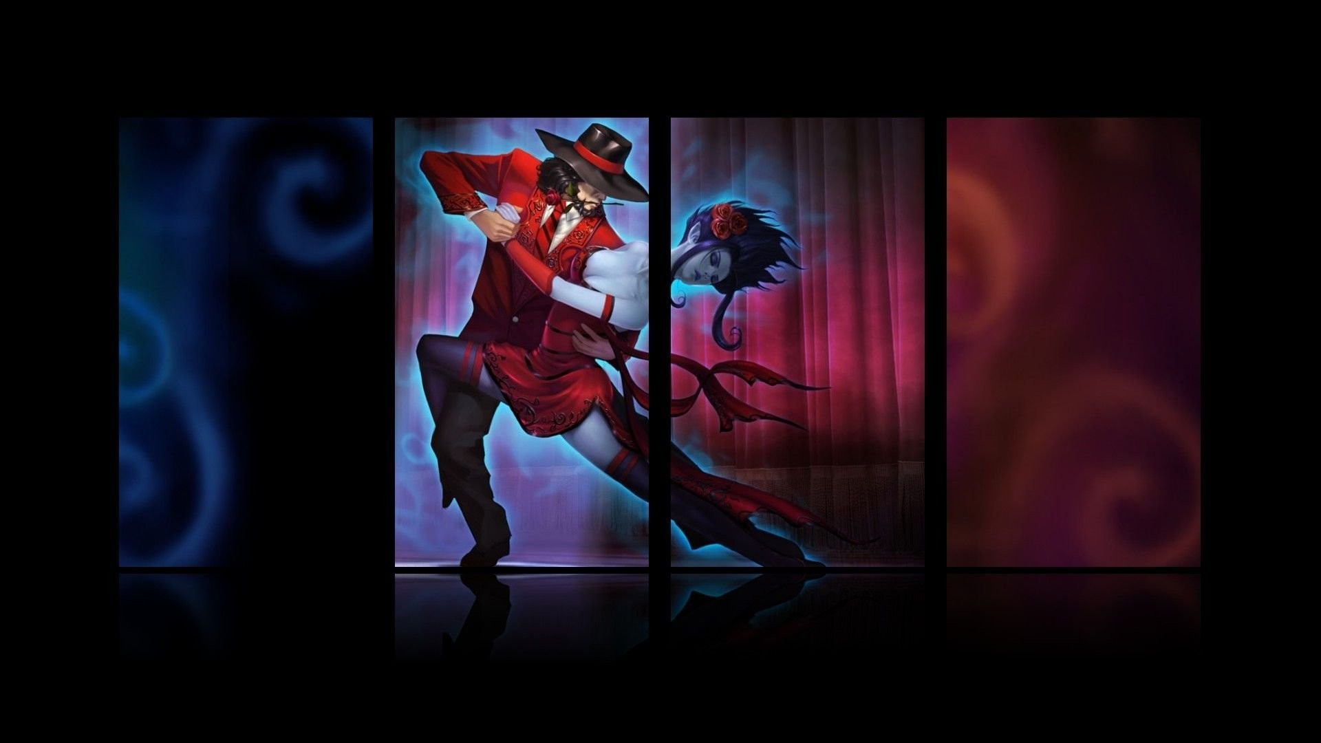 1920x1080 Evelynn The Widowmaker And Twisted Fate