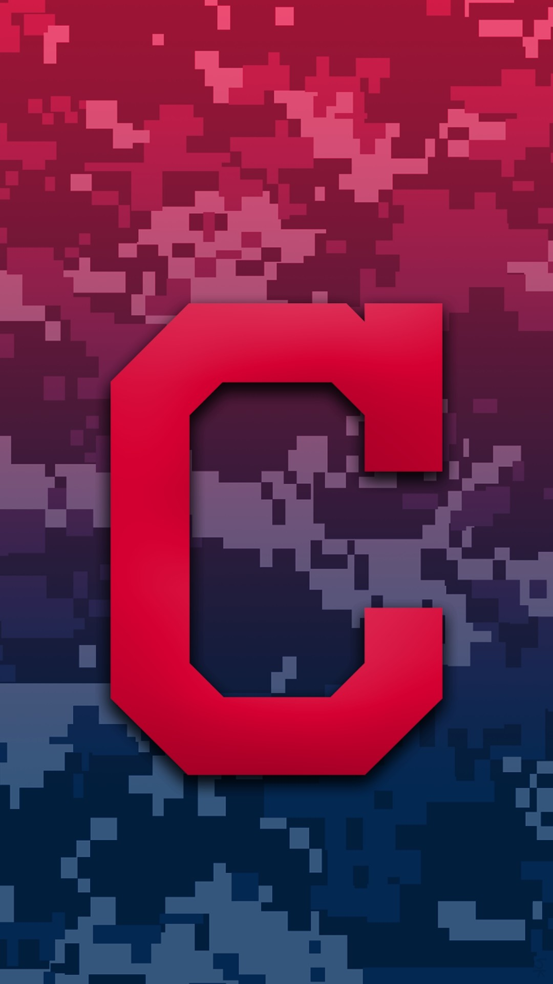 1080x1920 Cleveland Indians Camo Background For Iphone 7 Plus pertaining to Cleveland  Indians Phone Wallpapers ...