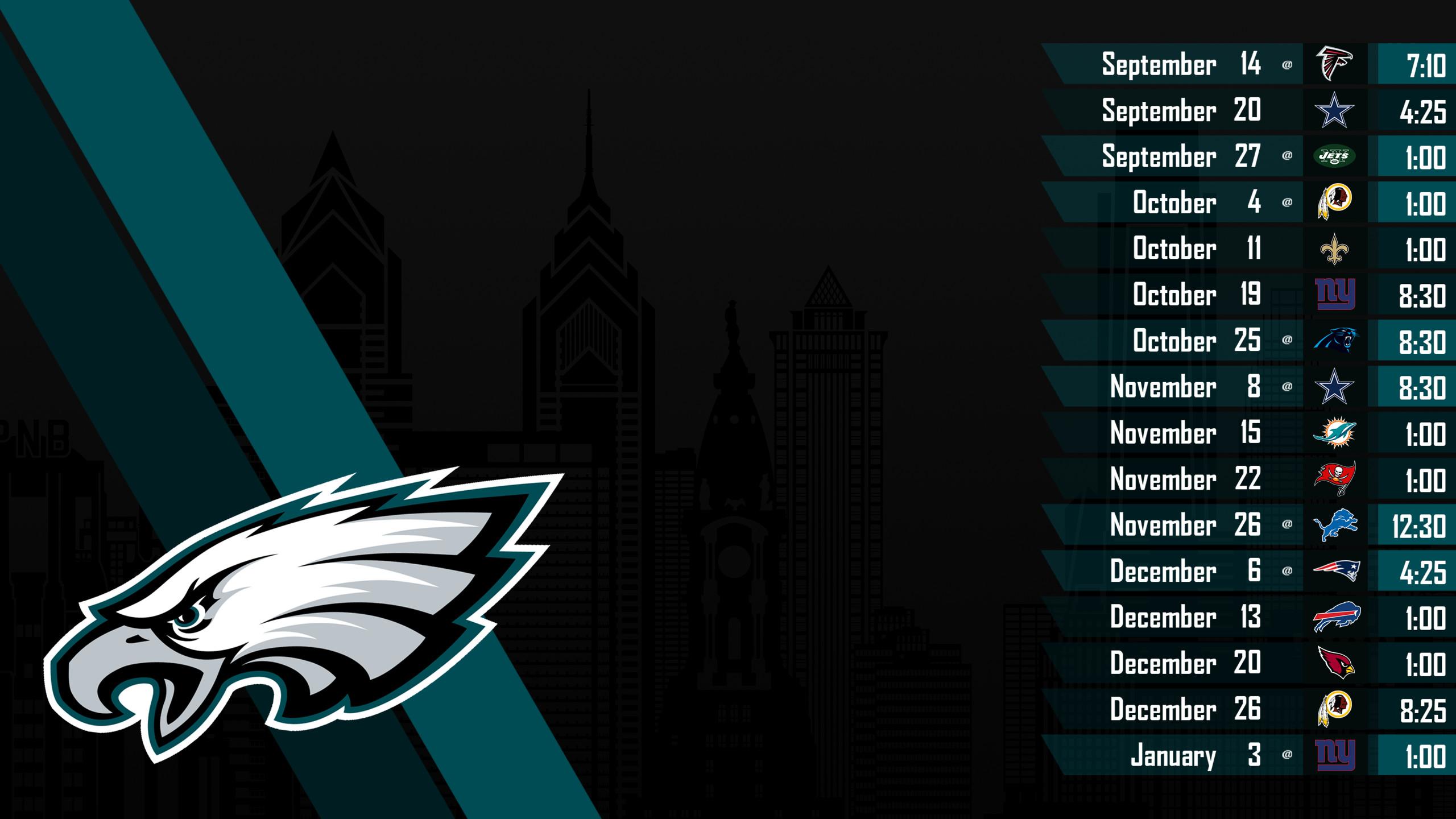 Philadelphia Eagles 2018 Schedule Wallpaper 56 Images