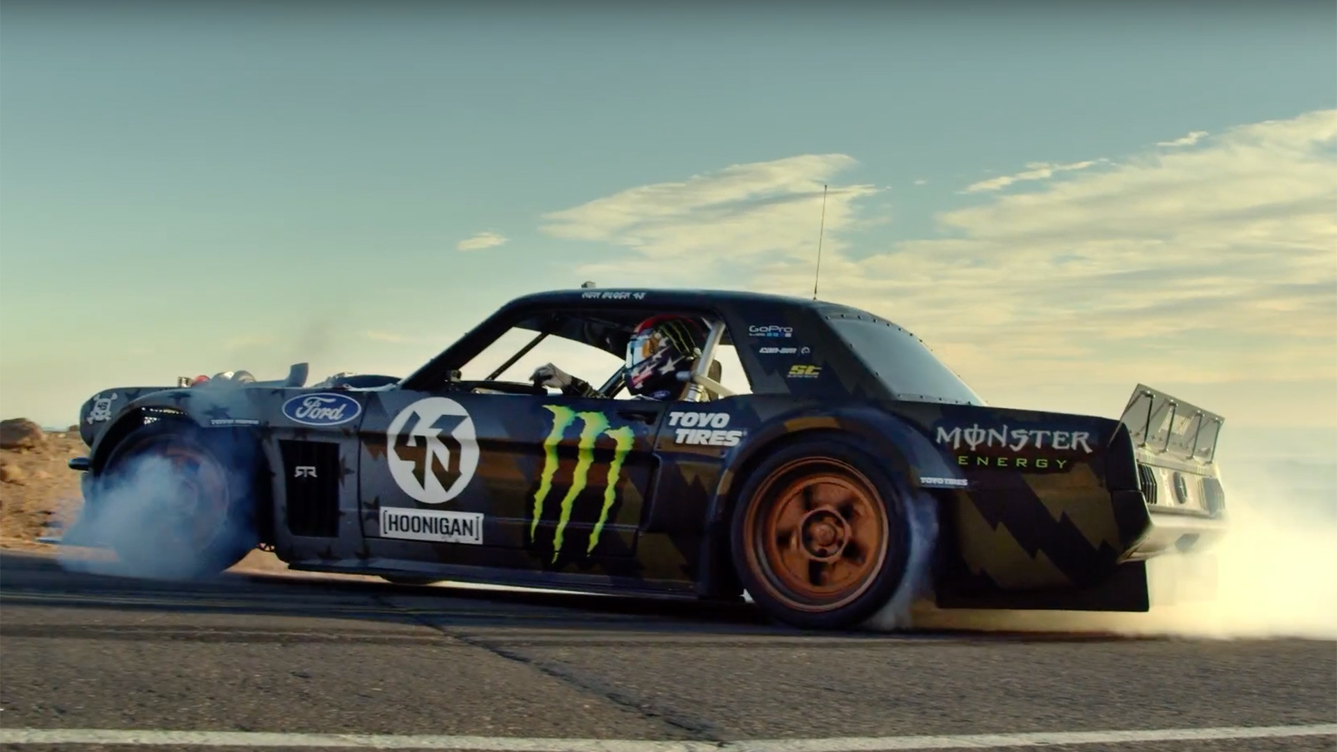 "1920x1080 Ken Block Drops Climbkhana Trailer, Featuring the 1,400-HP ""Hoonicorn"" Ford  Mustang - The Drive"