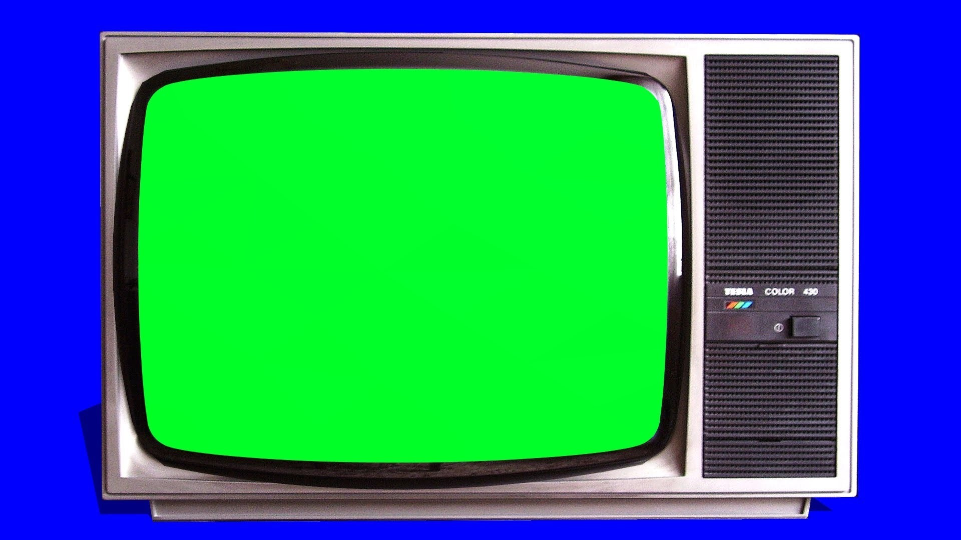 1920x1080 old TV vintage Televison green screen - tracking shot and stills - free green  screen 1
