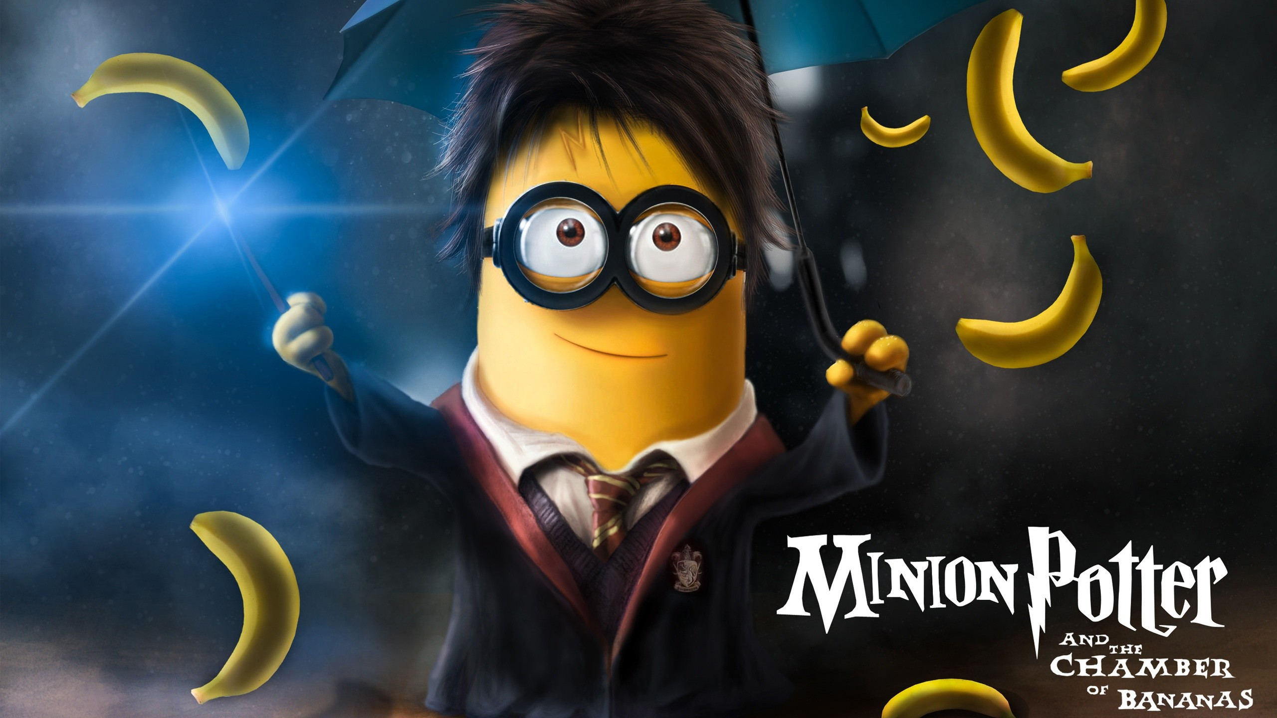 2560x1440 Minion Harry Potter, free computer desktop hd wallpapers, pictures, images
