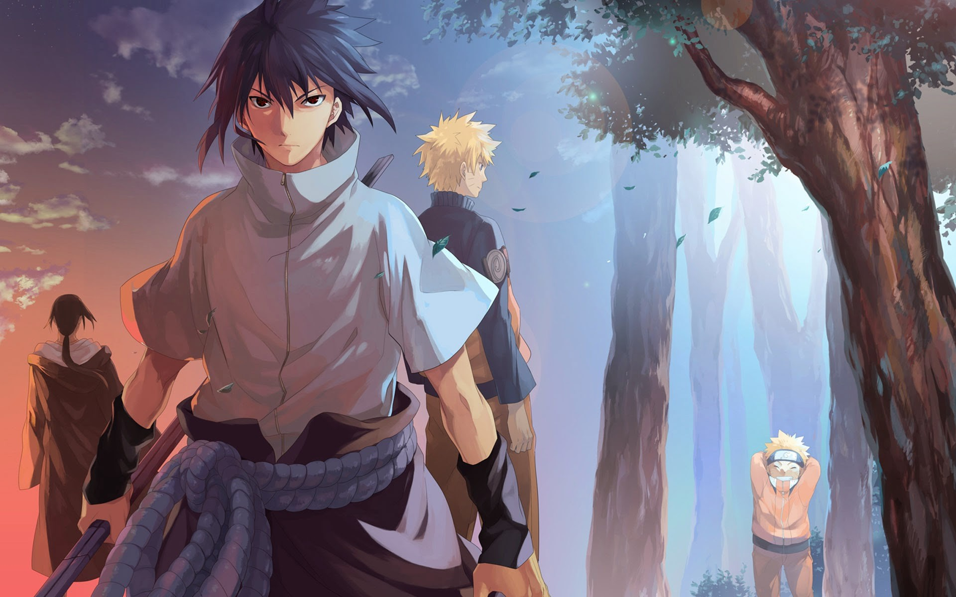 1920x1200 Sasuke Itachi Uchiha Brothers Naruto Anime Hd Wallpaper 7r