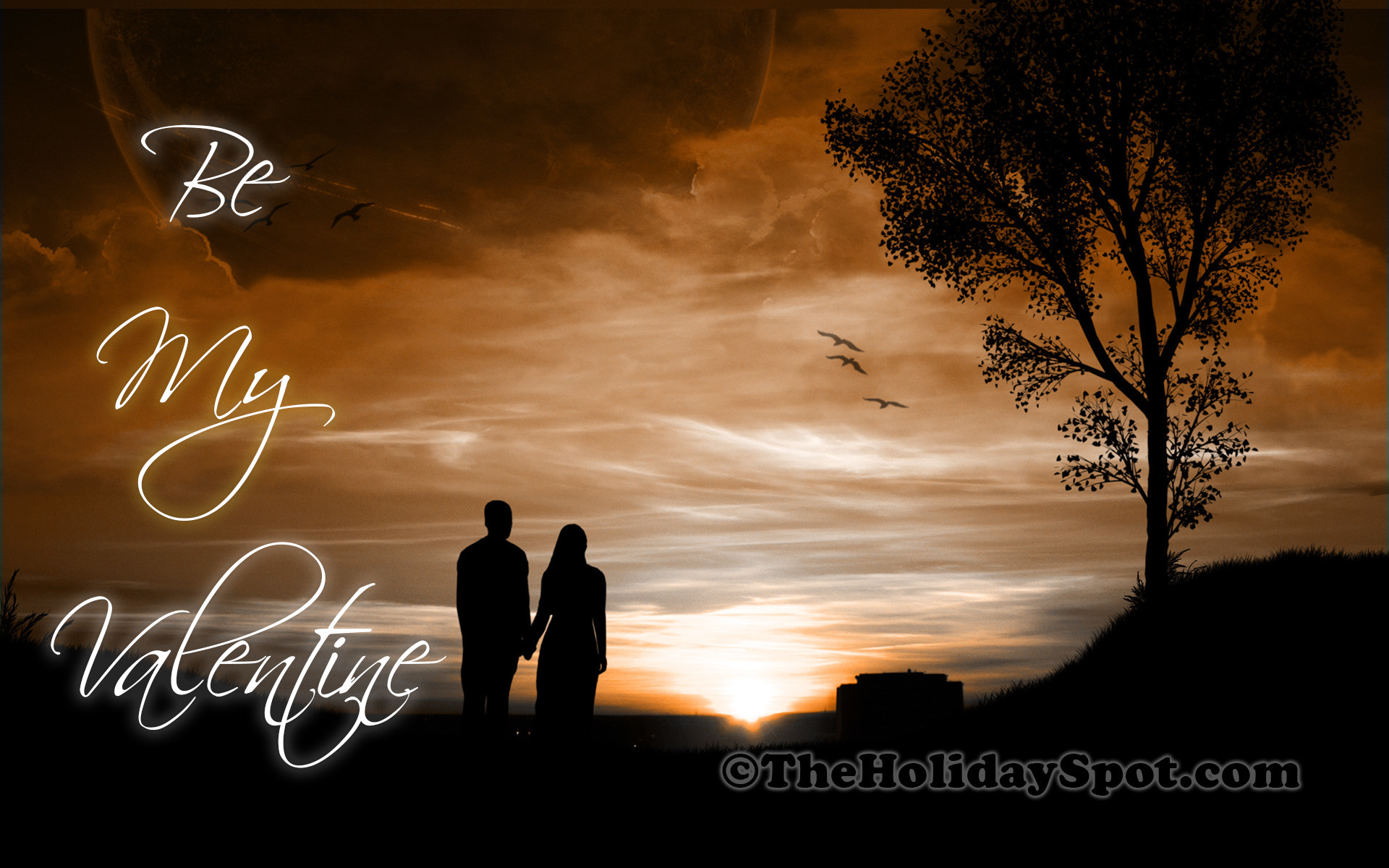 1920x1200 High Definition Valentines Day Wallpaper of a couple walking together
