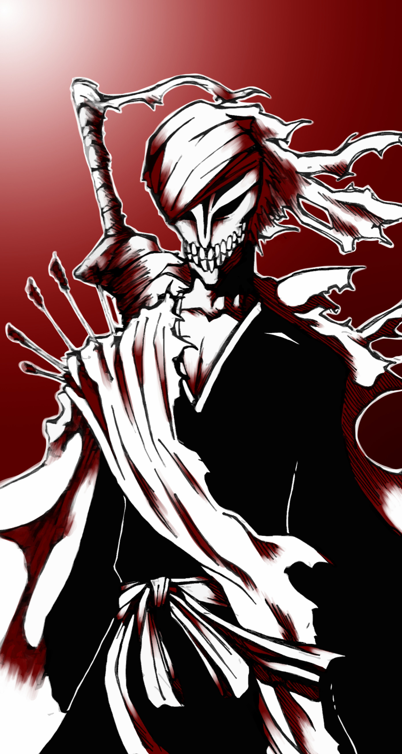 Bleach ichigo hollow form wallpaper