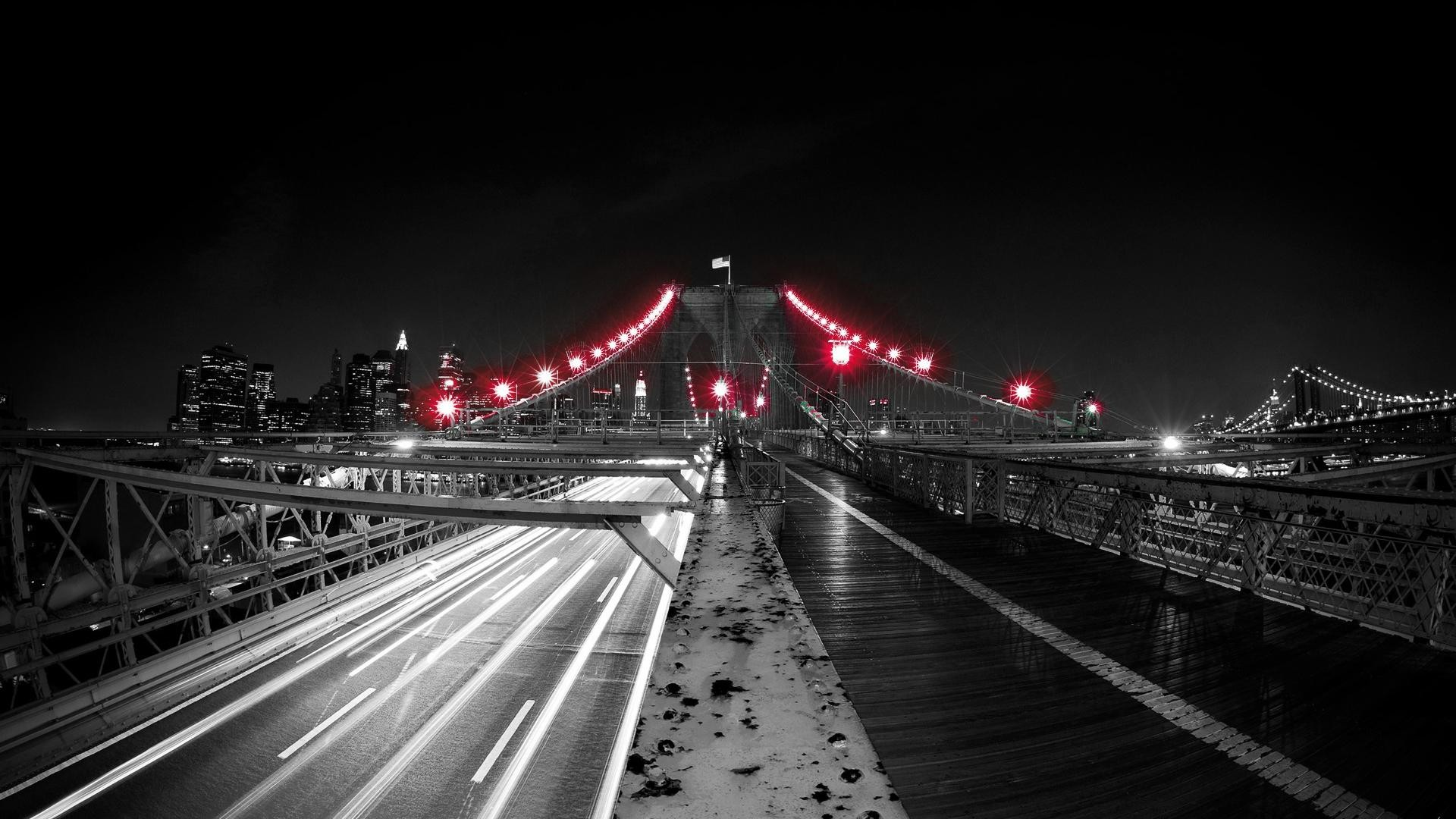 1920x1080 Red Black and White | Black Red Light Bridge White Up Net Wallpaper with   .
