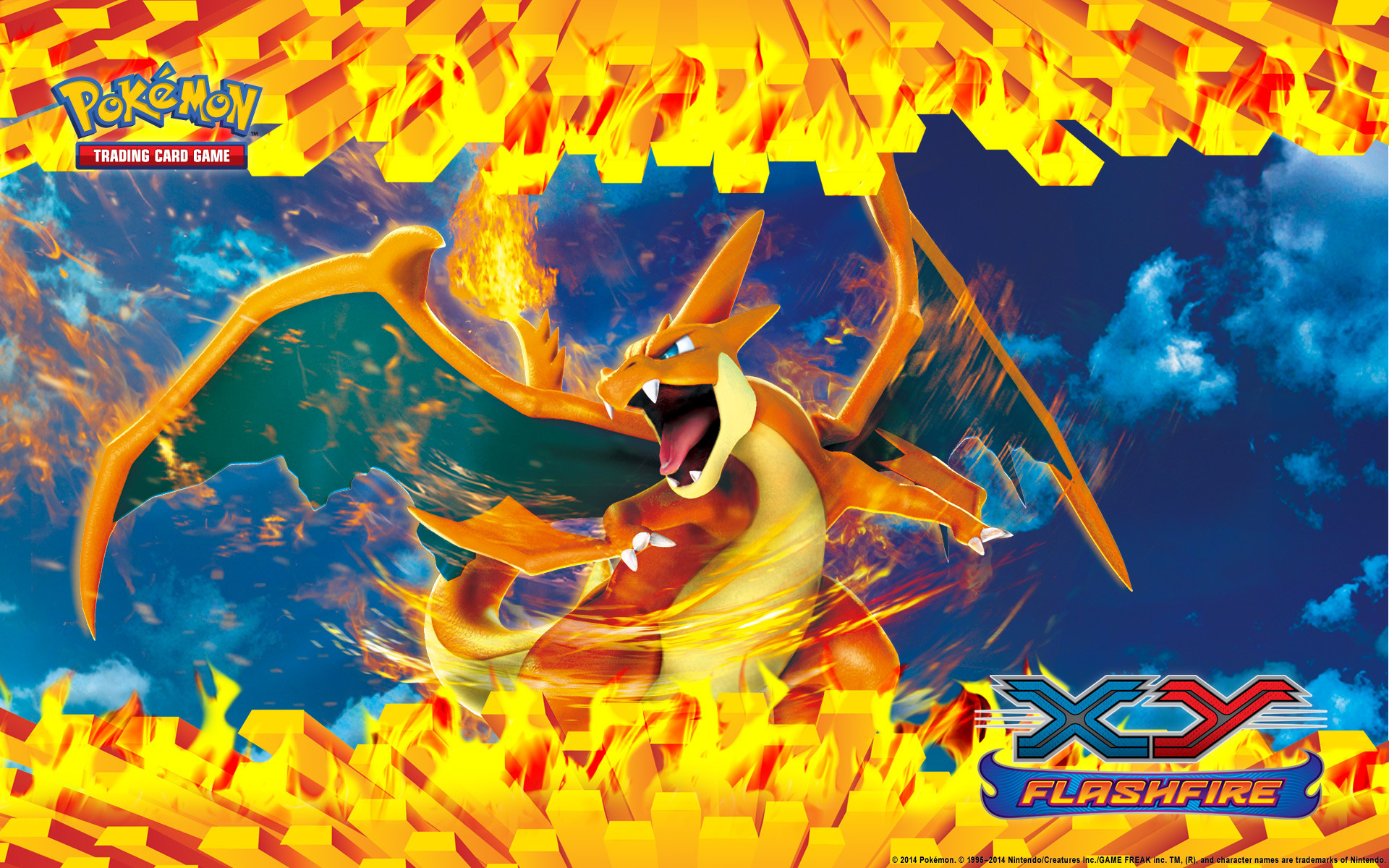 1920x1200 Displaying 18> Images For - Pokemon Charizard X Card.