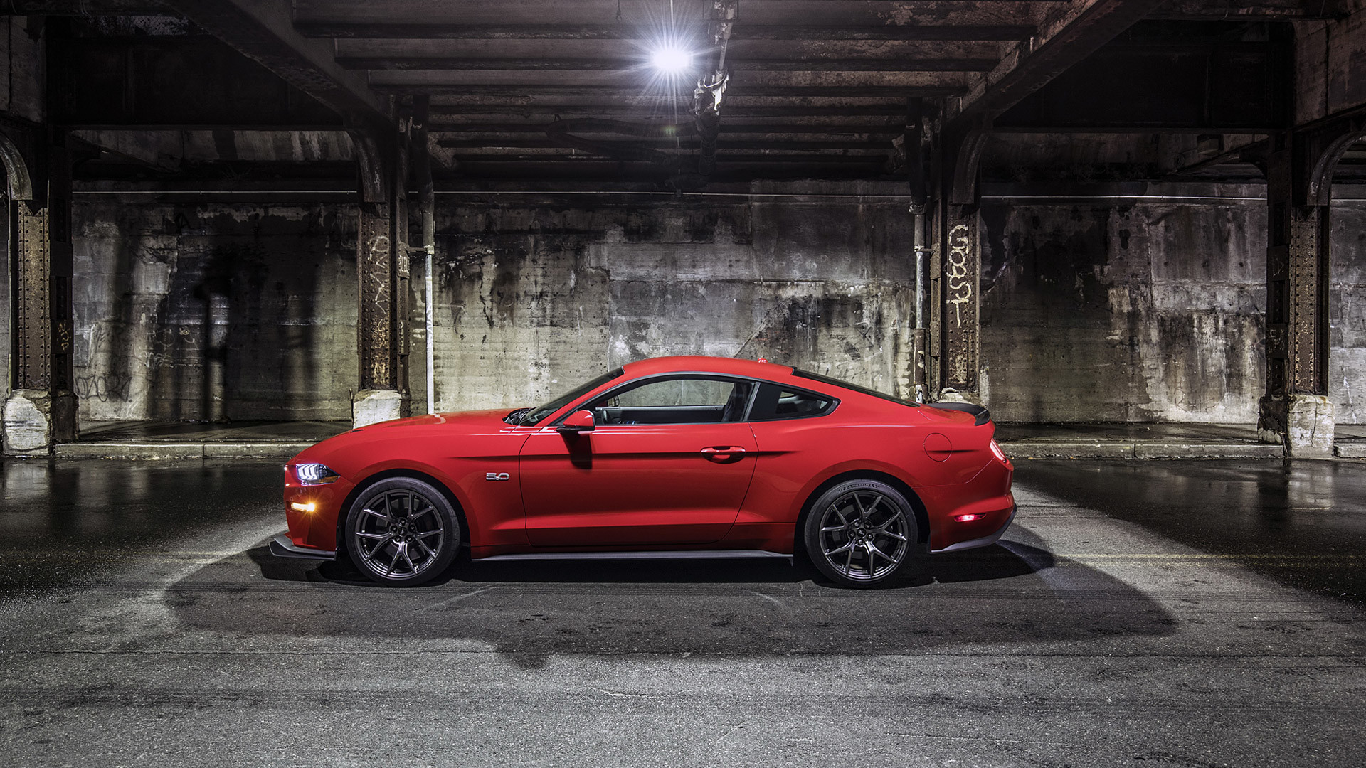 1920x1080 Vehicles - Ford Mustang GT Muscle Car Red Car Wallpaper