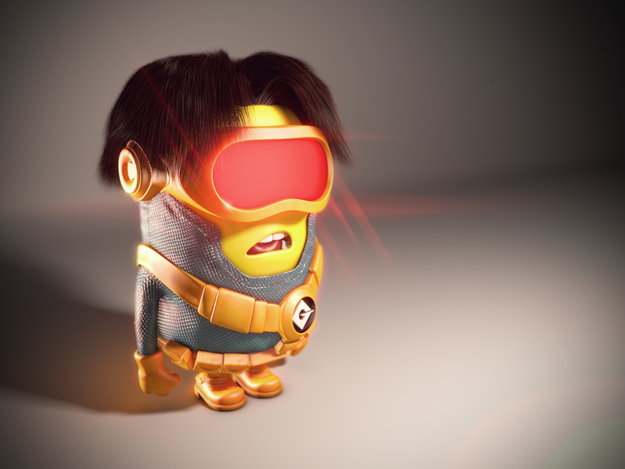 2000x1500 Despicable Me Minions Dressed Up as Pop Culture Characters - Cyclops