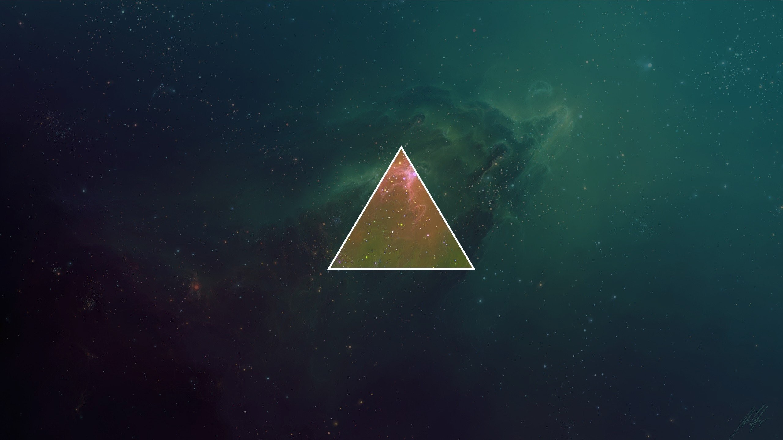 Hipster galaxy wallpaper 68 images 2560x1440 galaxy triangles skies hipster photography minimalism free iphone or android full hd wallpaper voltagebd Images