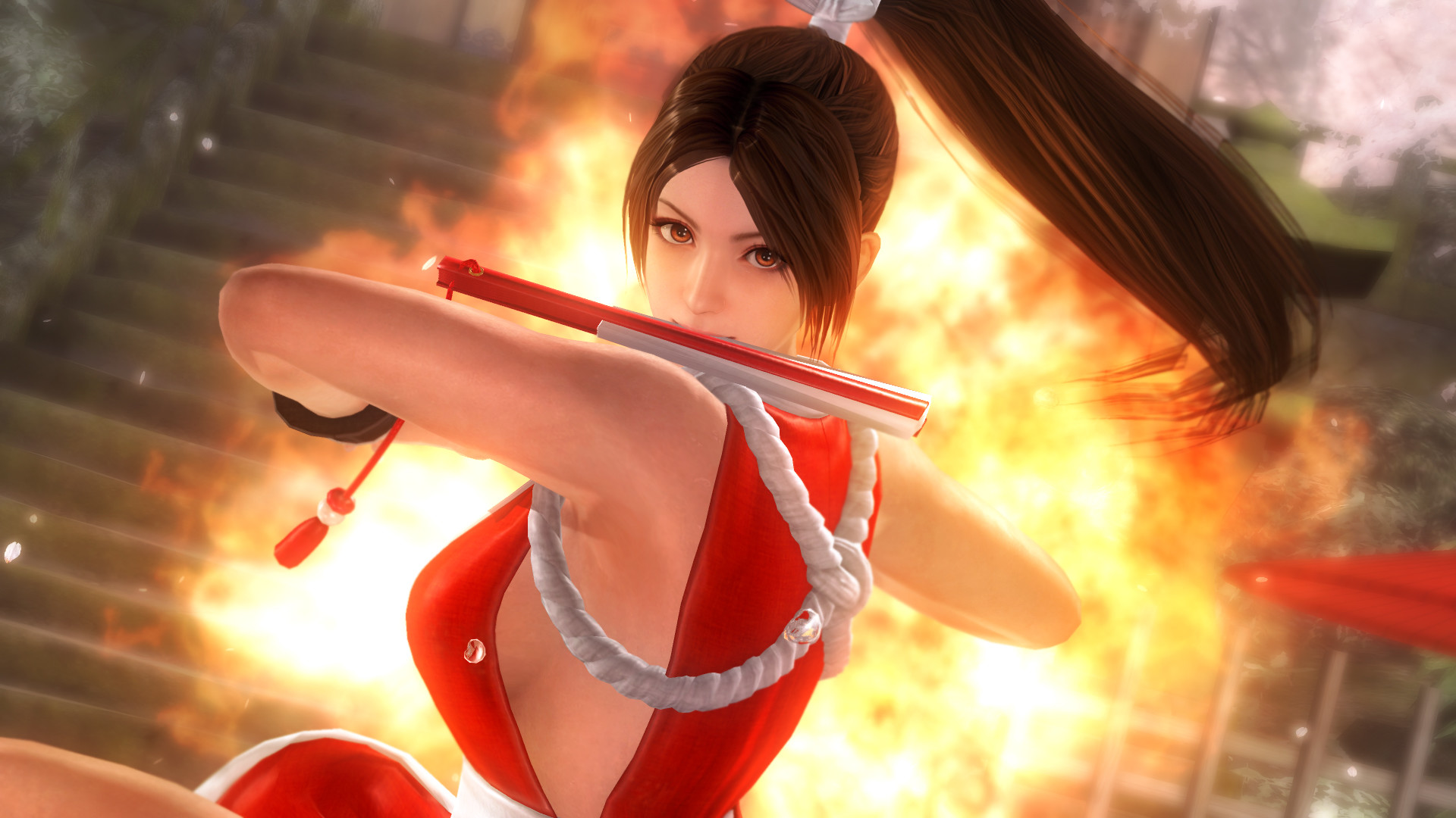 1920x1080 Dead or Alive 5: Last Round's Mai Shiranui Gets 1080p Screenshots and Sexy  Costumes