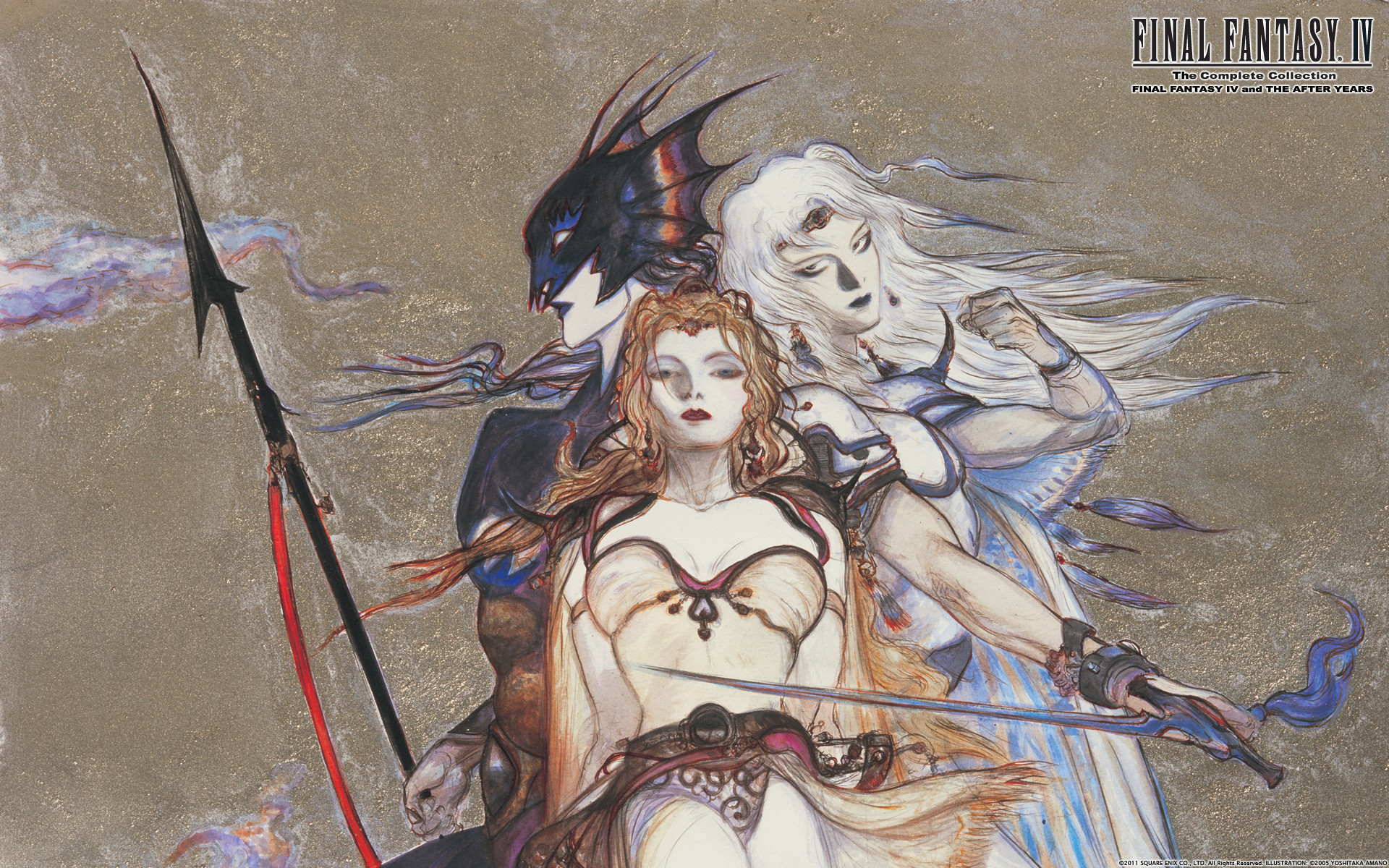 1920x1200 Video Game - Final Fantasy IV Cecil Harvey Kain Highwind Rosa Joanna  Farrell Wallpaper