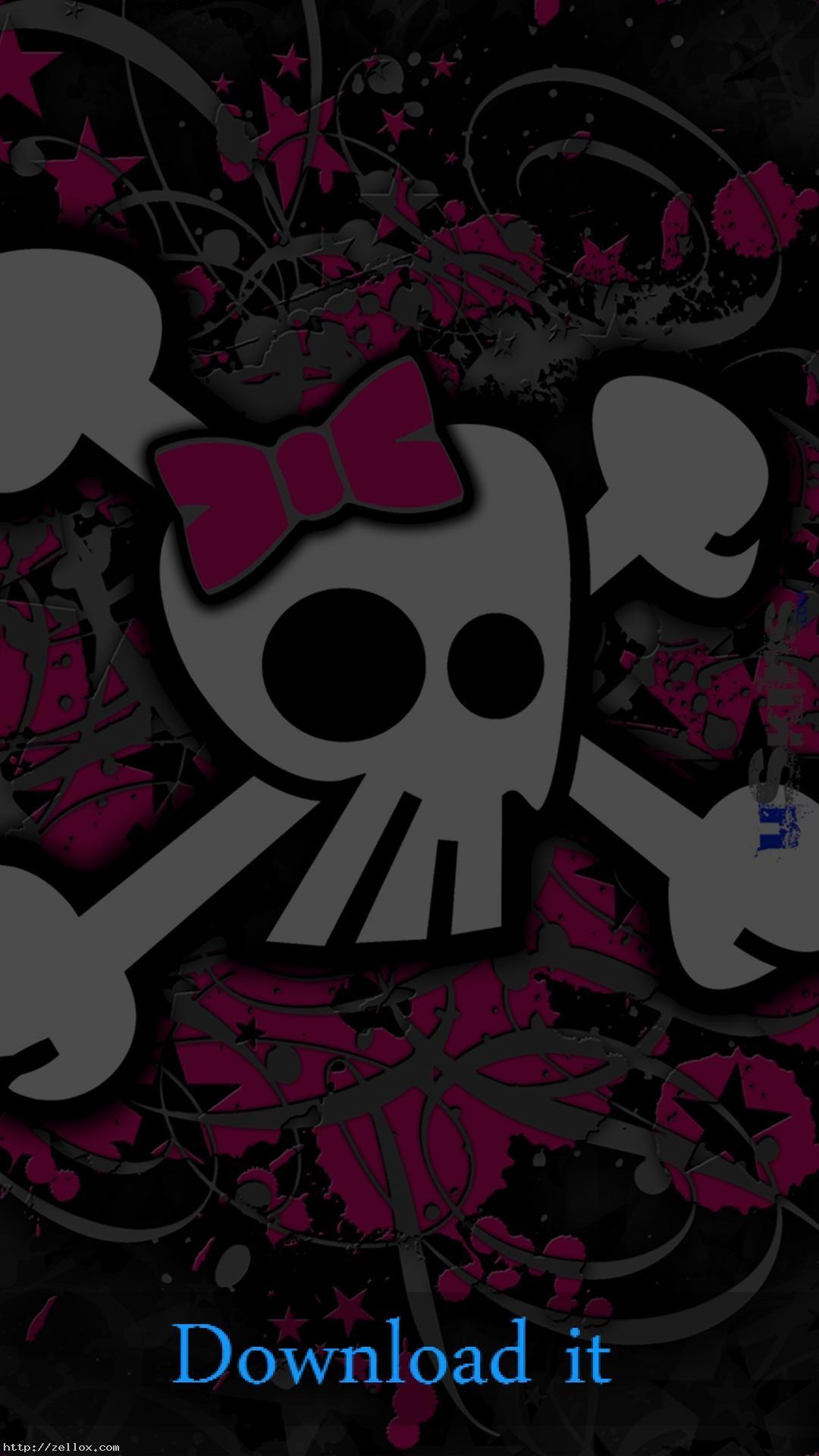 Girly Skull Wallpaper For Mobile