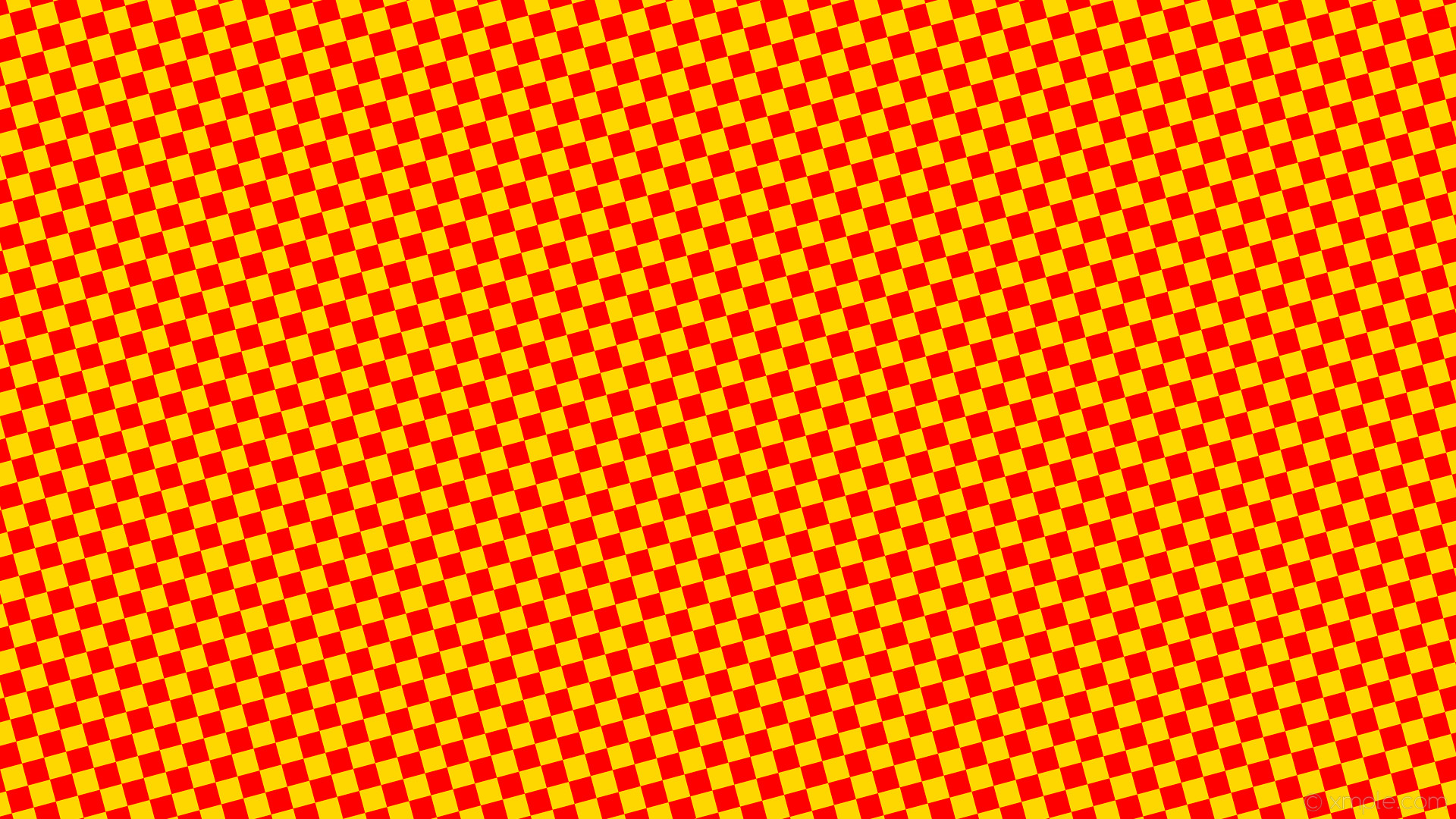 1920x1080 wallpaper squares checkered yellow red gold #ffd700 #ff0000 diagonal 15°  30px