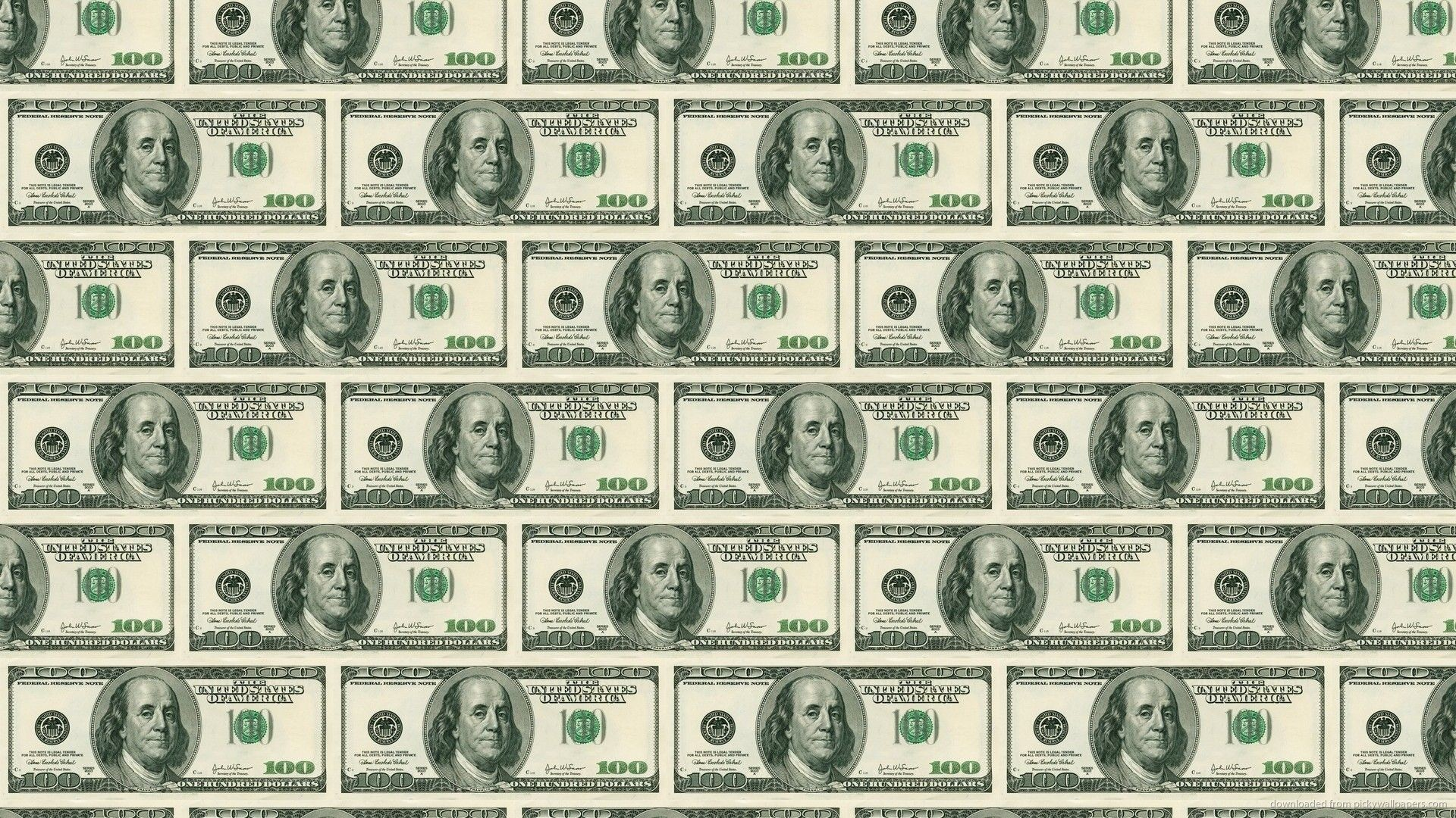 1920x1080 100 Dollar Bill Pattern Wallpaper For iPhone 4