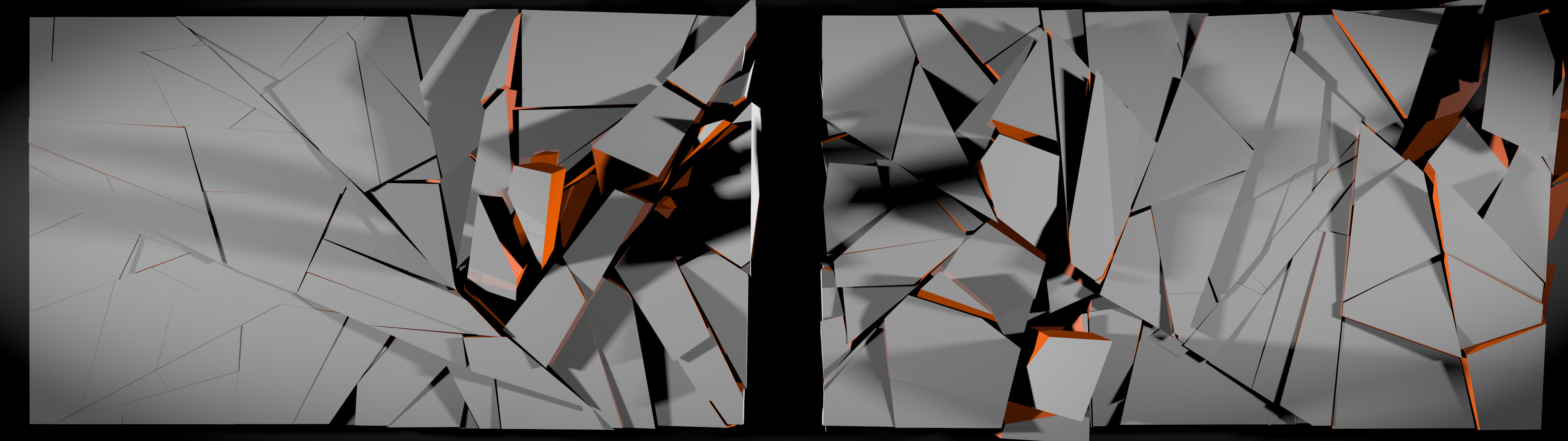 3840x1080 Abstract Dualscreen Wallpaper by Paratomick Abstract Dualscreen Wallpaper  by Paratomick