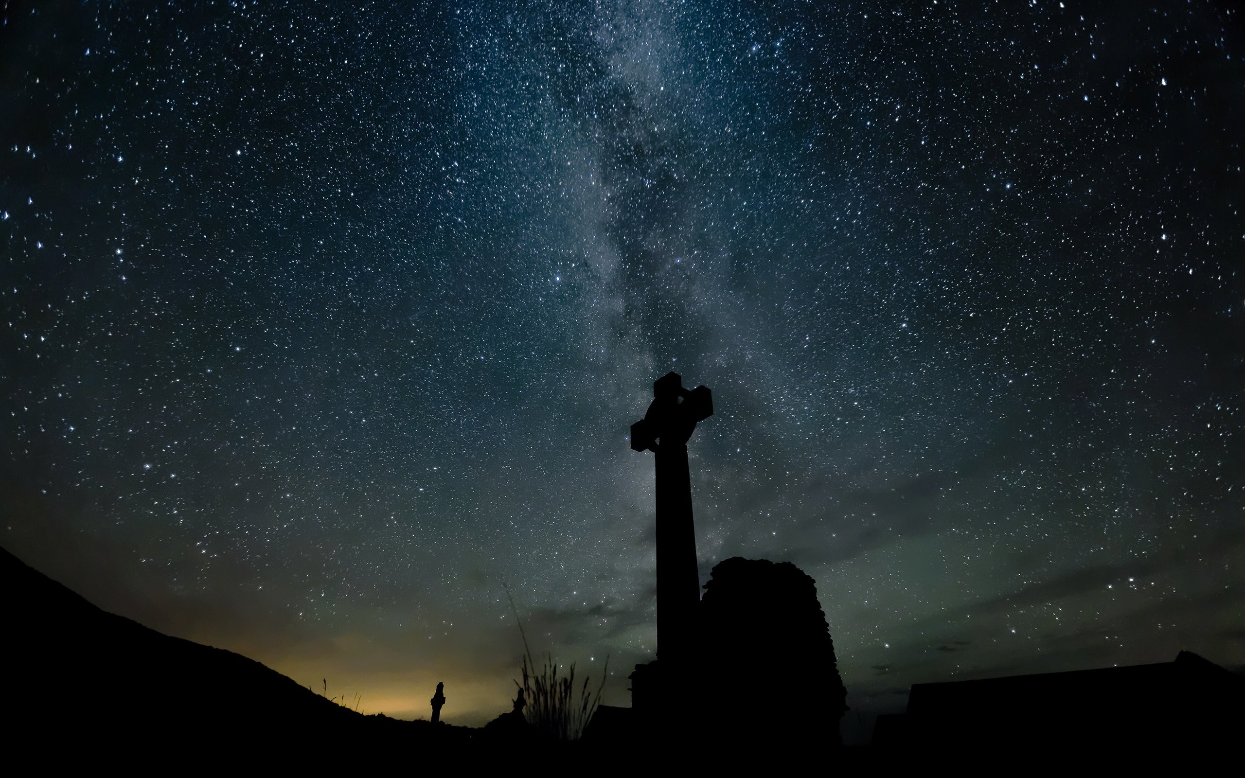 2560x1600 Stars Night Cross Galaxy Milky Way wallpaper |  | 248055 .