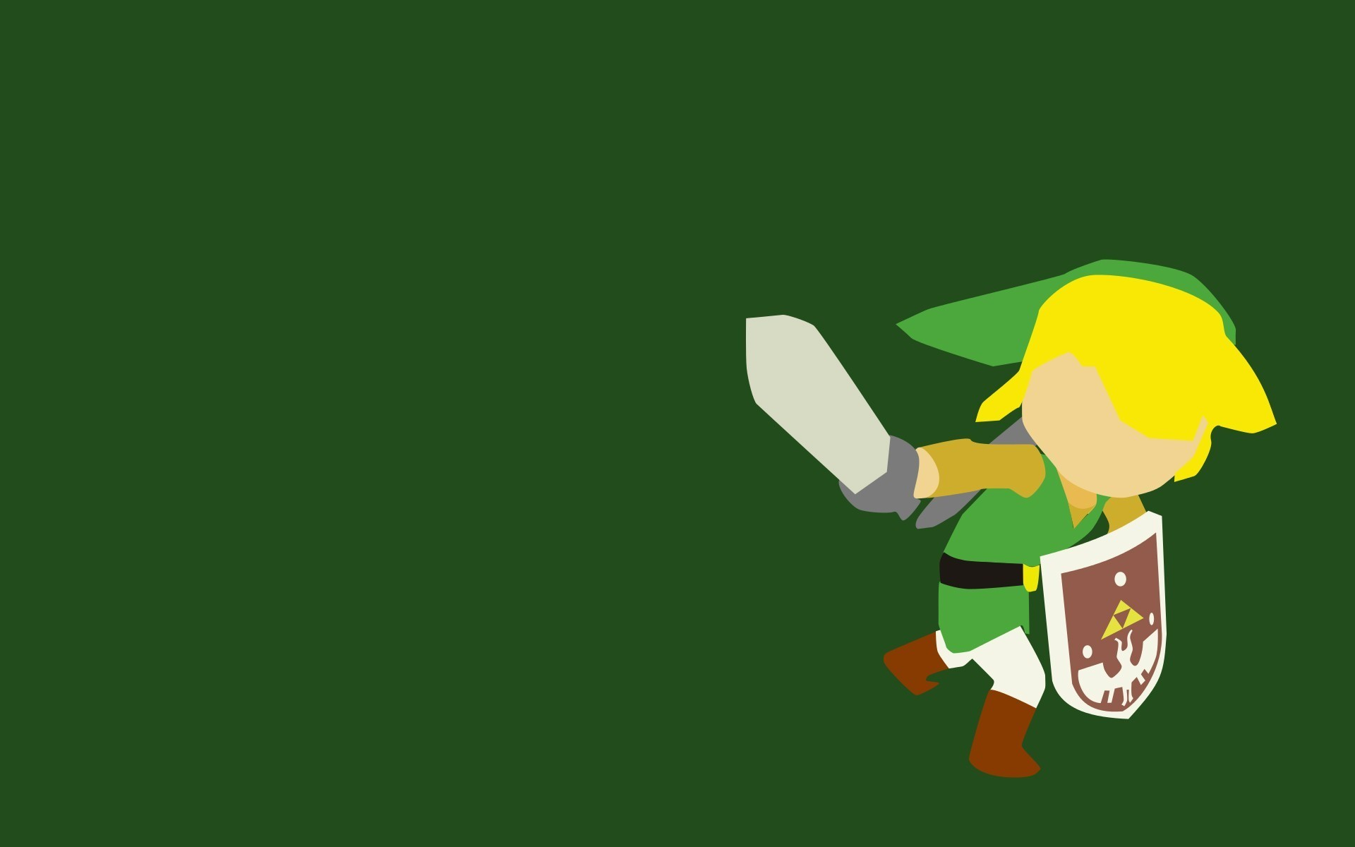 1920x1200 Link, The Legend Of Zelda, Minimalism, Video Games Wallpapers HD / Desktop  and Mobile Backgrounds