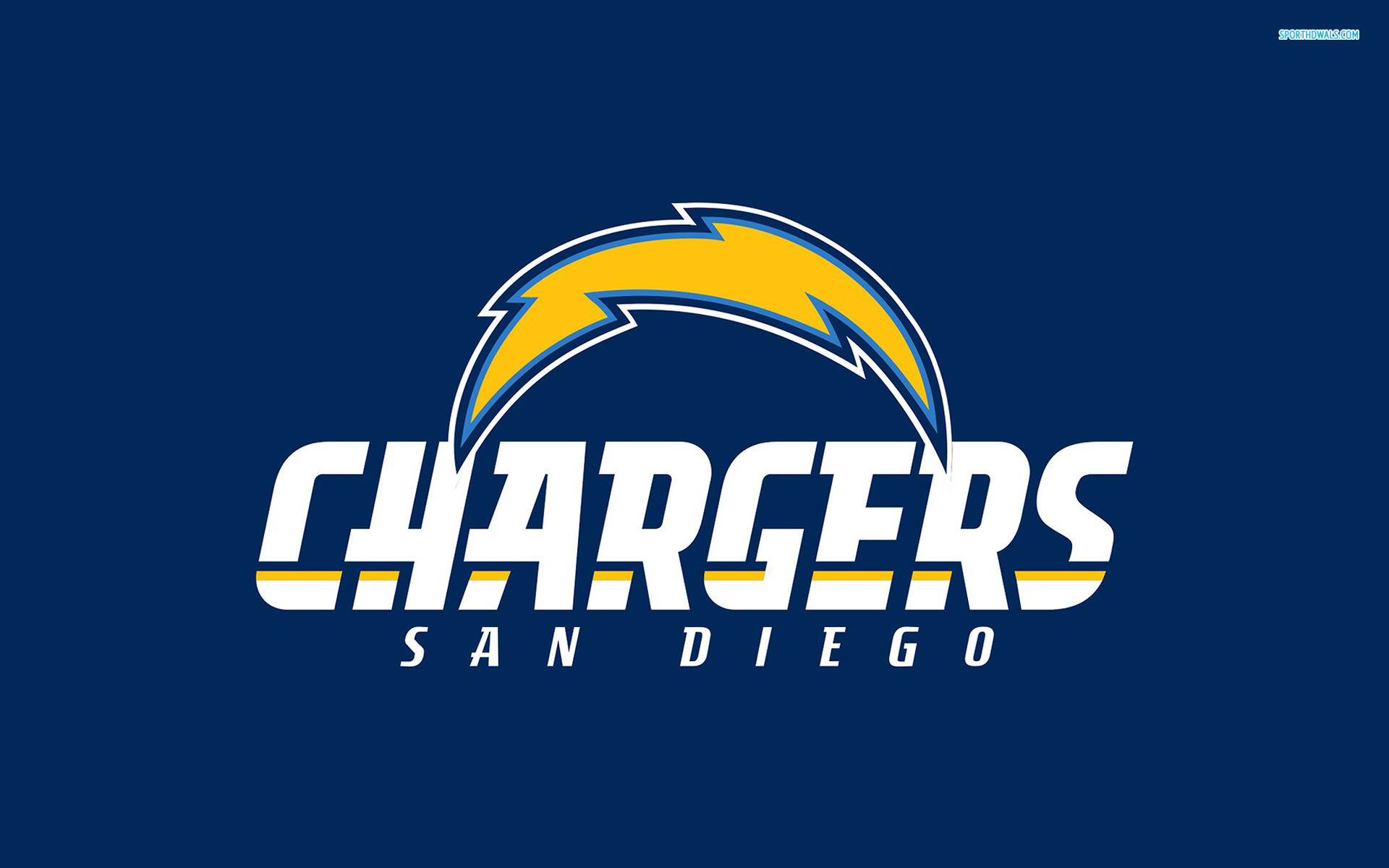 1920x1200 San Diego Chargers Official NFL Football Team Logo x Flag - Wincraft Inc.