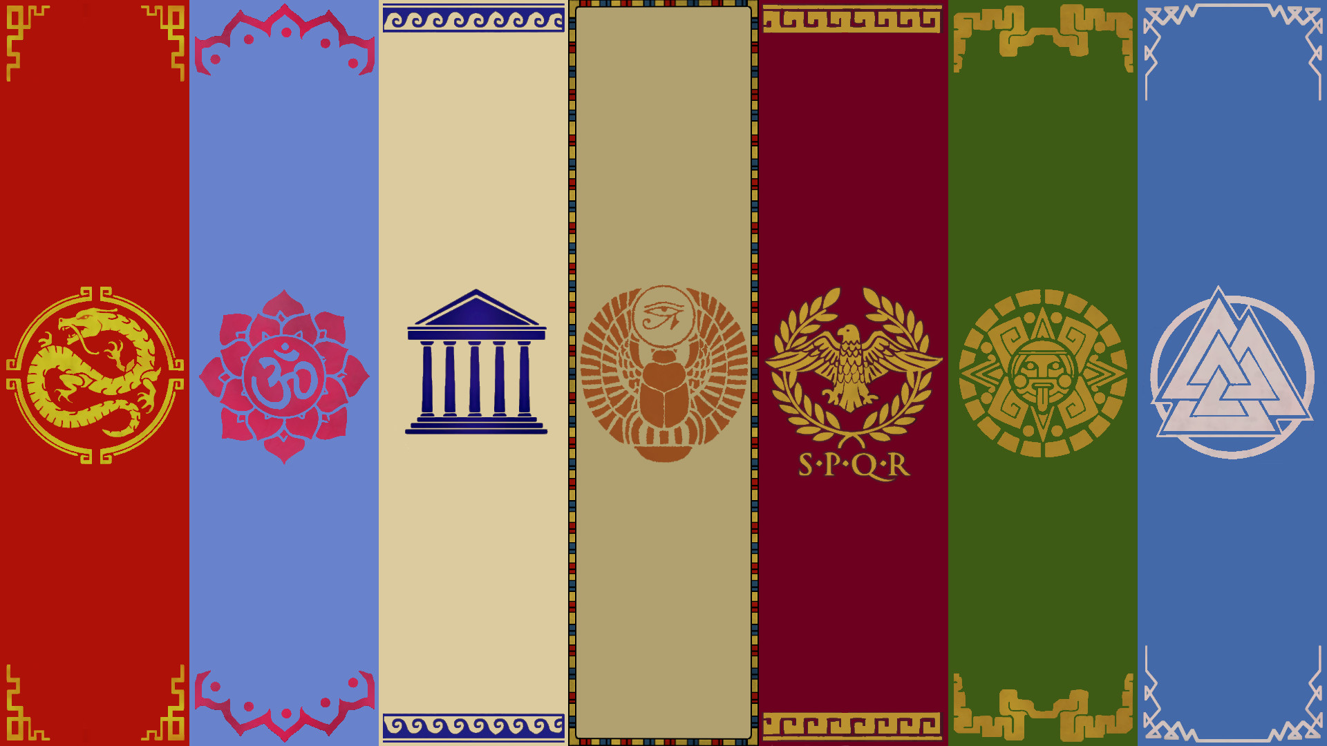 1920x1080 ... Smite Pantheon Banners ~Wallpaper~ by Silverfoxxe