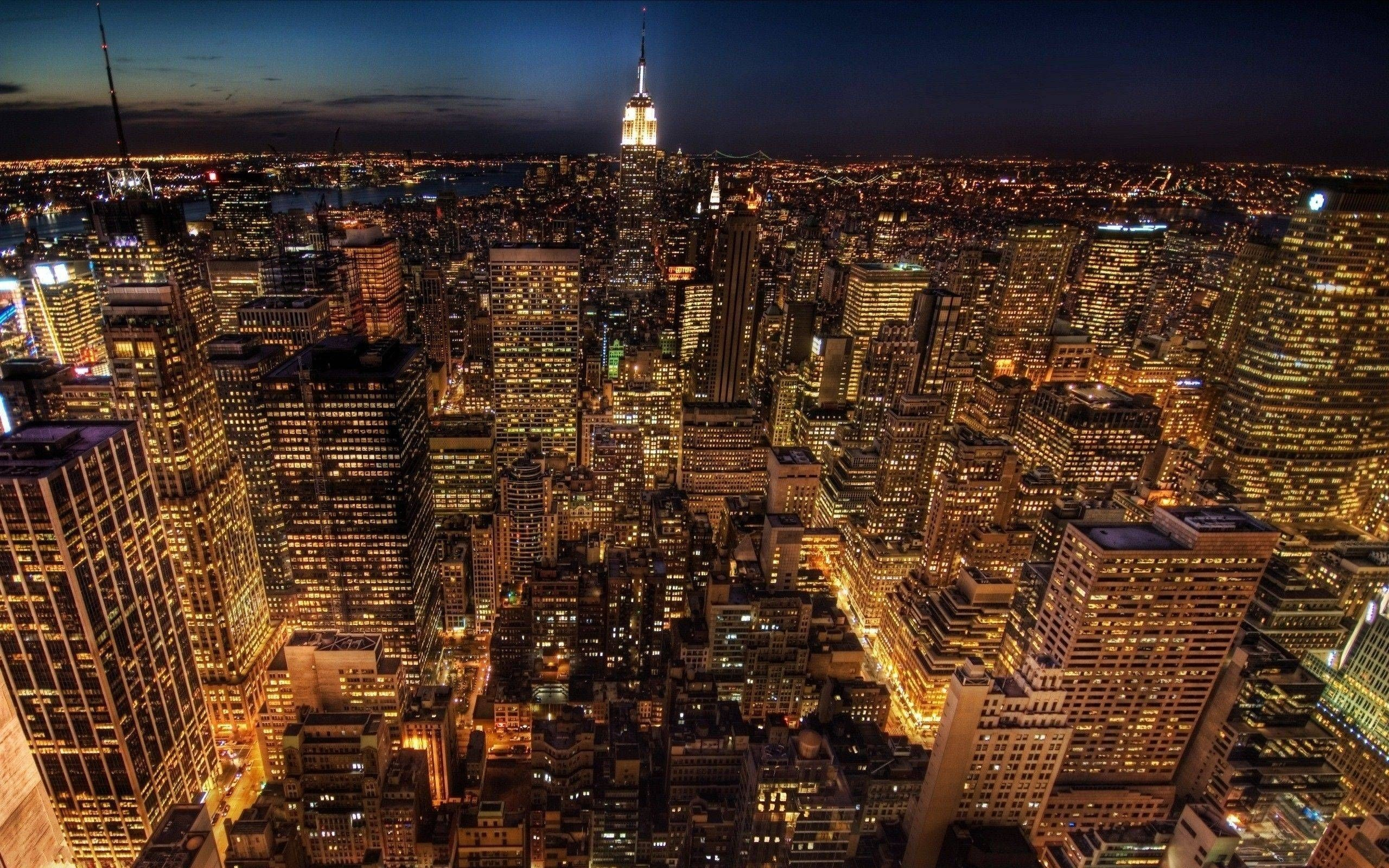2560x1600 10 Best New York City Night Hd Wallpaper FULL HD 1080p For PC Background