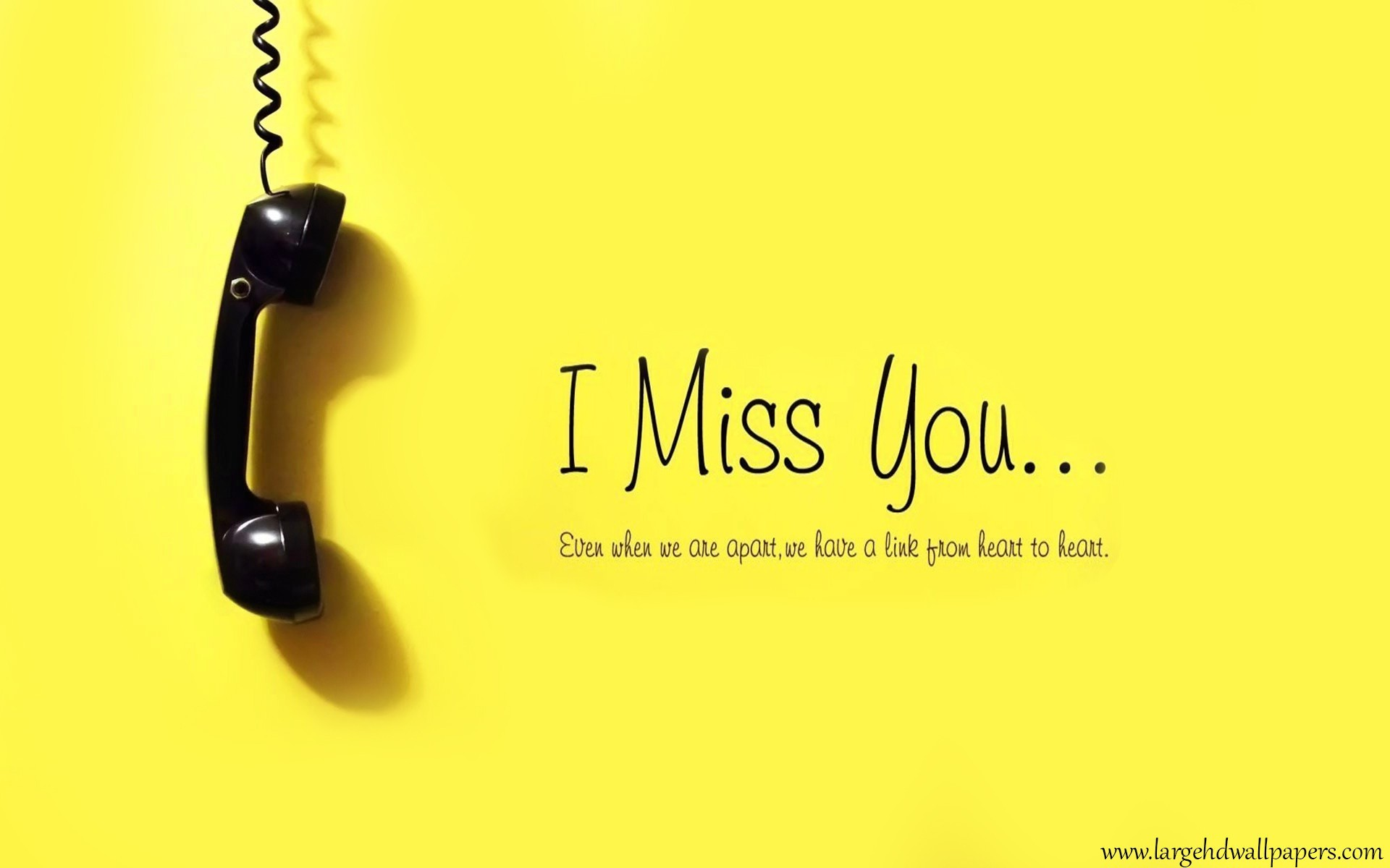 1920x1200 I Miss You Yellow Desktop Background Wallpapers