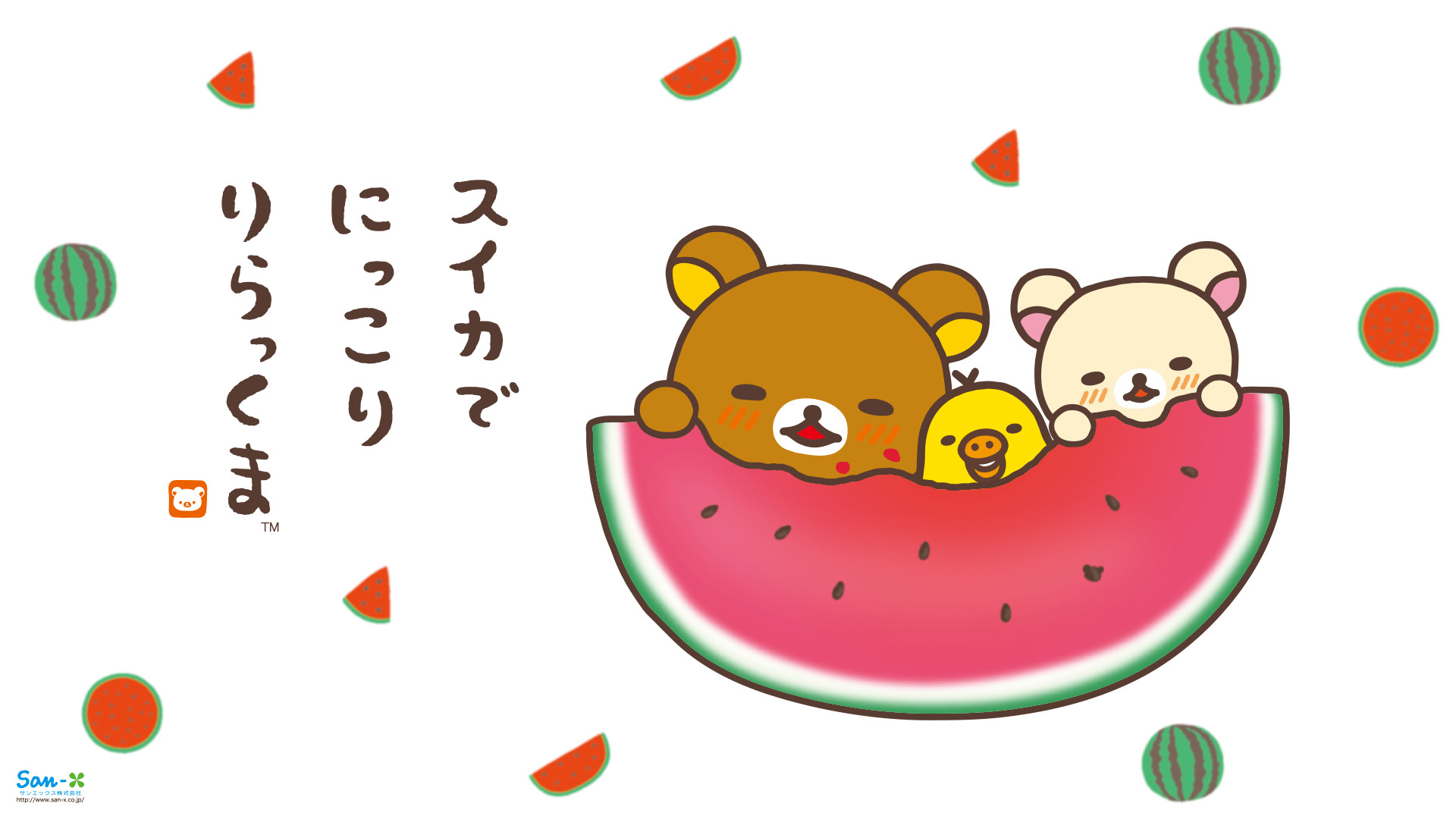 1920x1080 Rilakkuma Watermelon Wallpaper