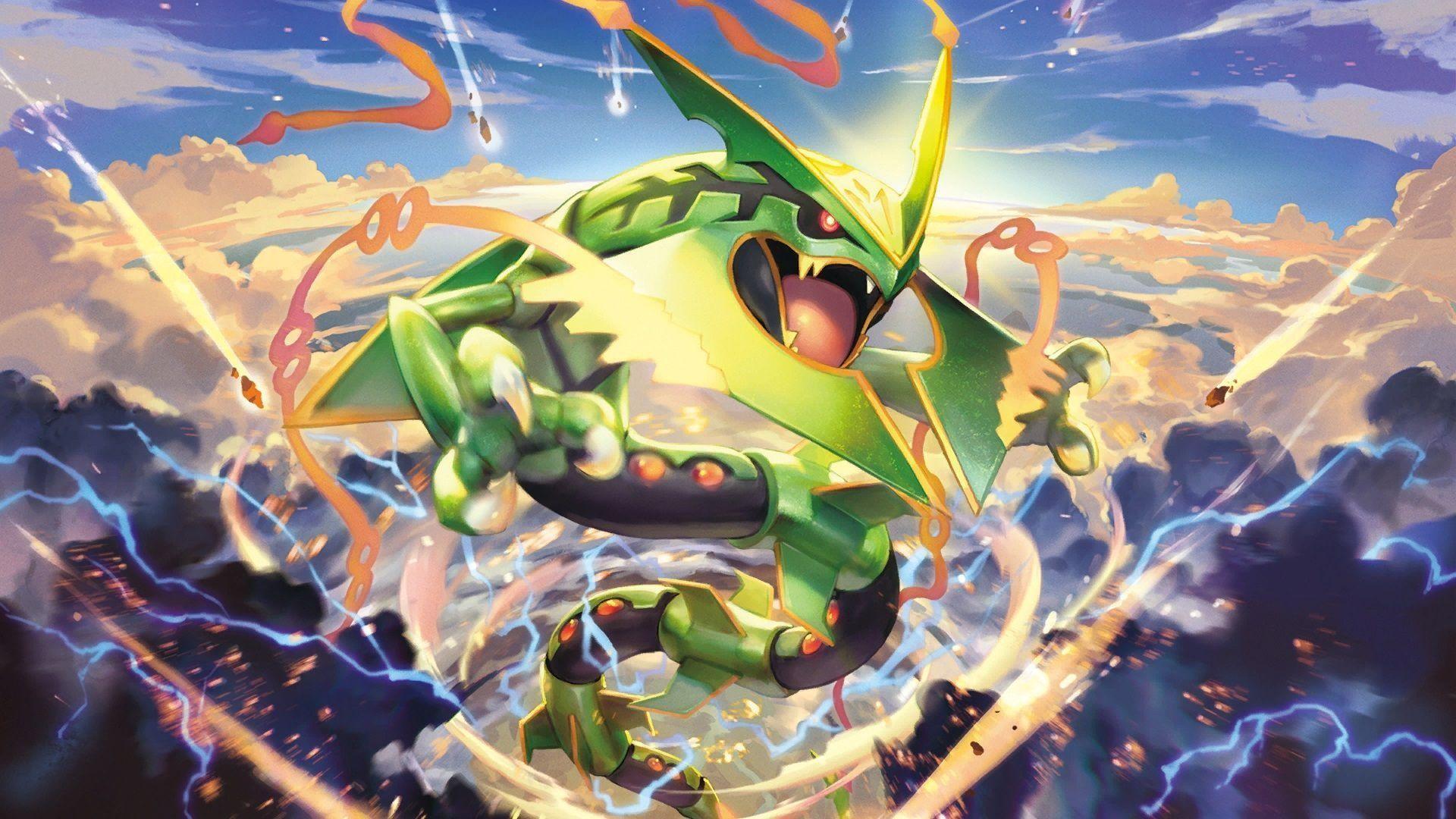 1920x1080 Pokemon Mega Rayquaza Wallpaper Wallpapers