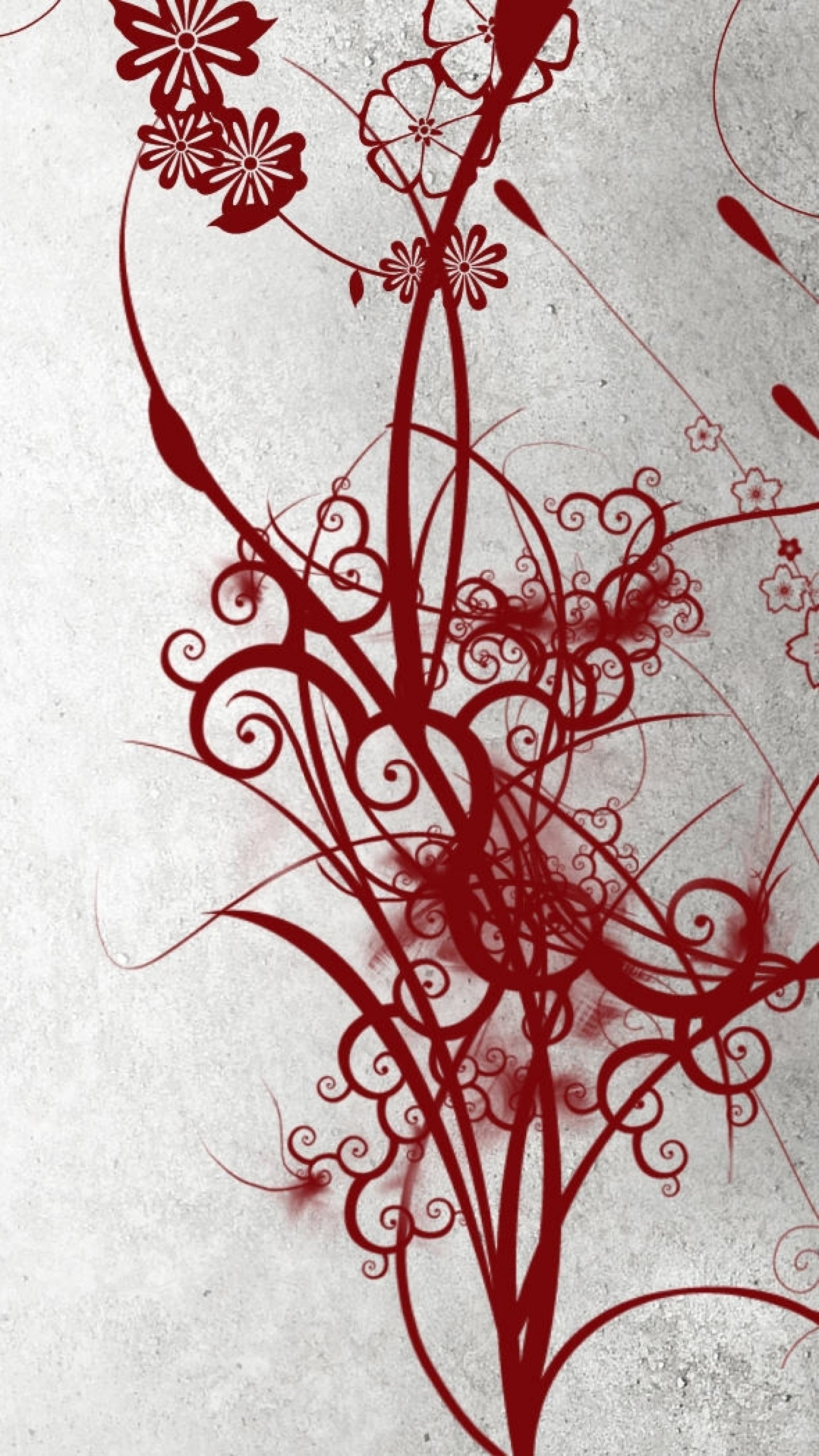 1440x2560  Wallpaper abstract, black, white, red