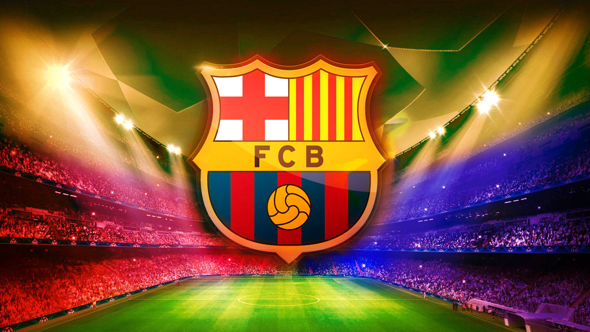1920x1080 FC Barcelona Logo Wallpaper Download