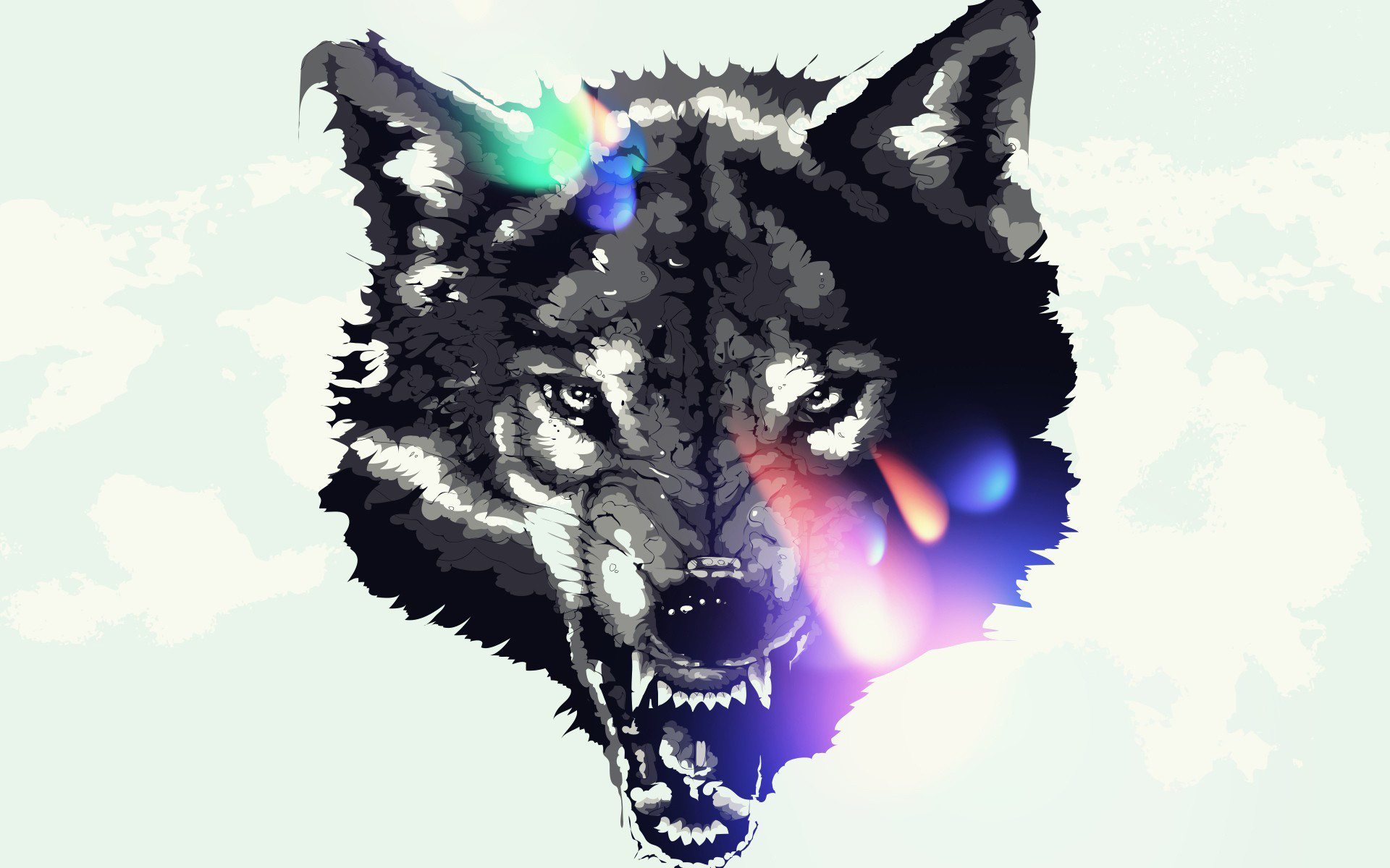 1920x1200 wolf, art, Animals