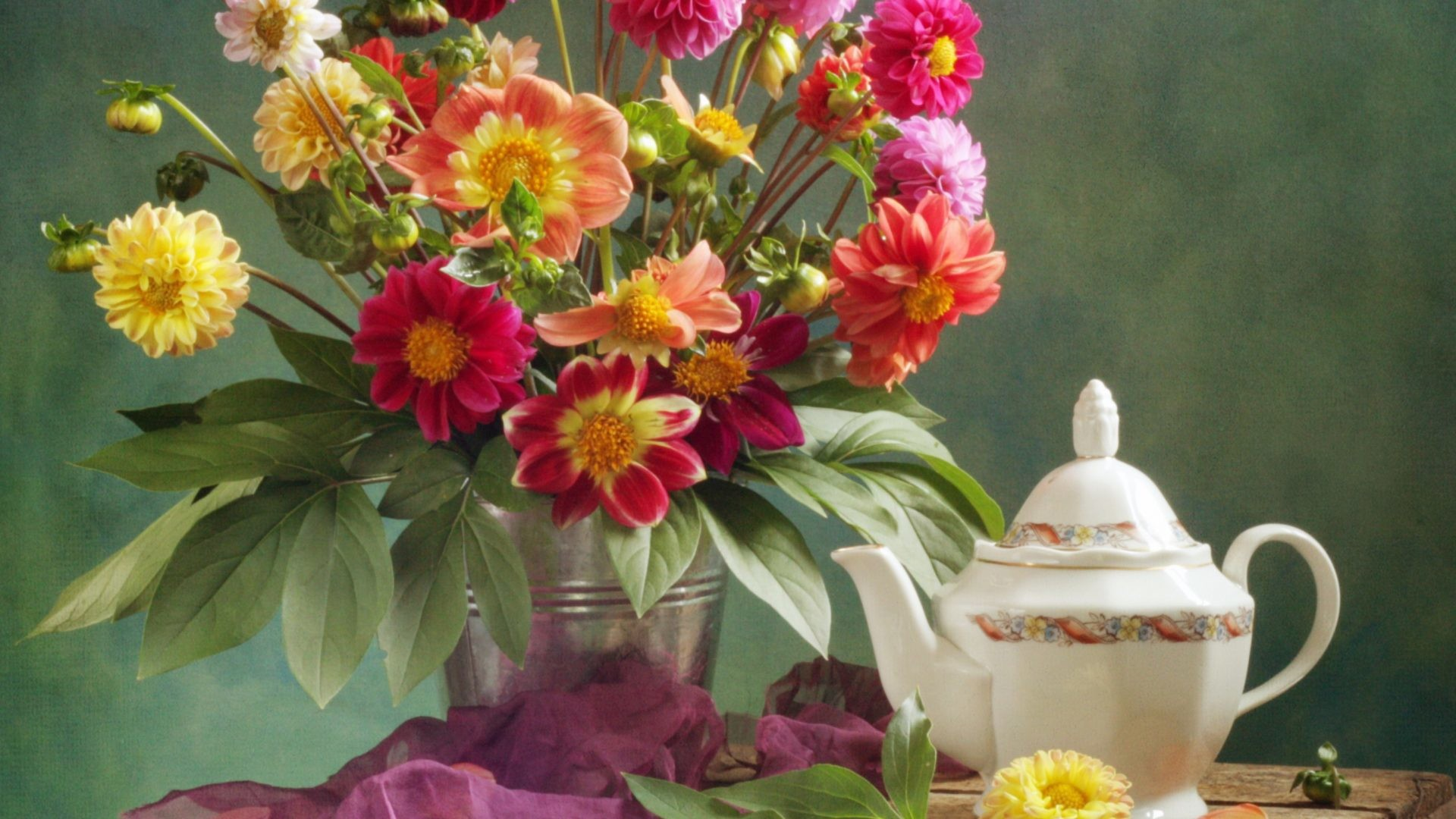 1920x1080 Still Cuuo Flower Floral Life Teapot Wallpaper In Hd Download Detail