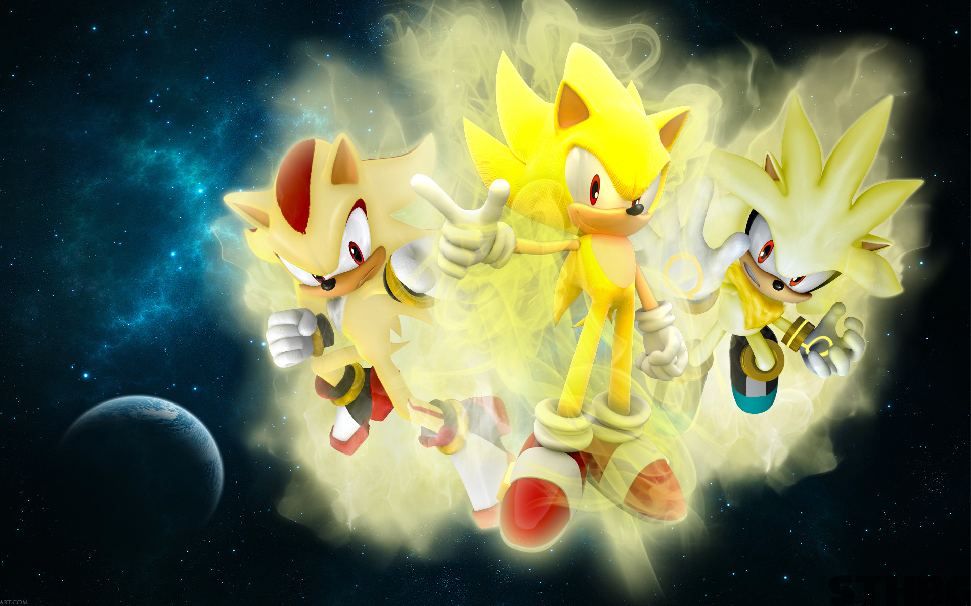 1920x1200 The Three Super Hedgehogs Wallpaper by SonicTheHedgehogBG