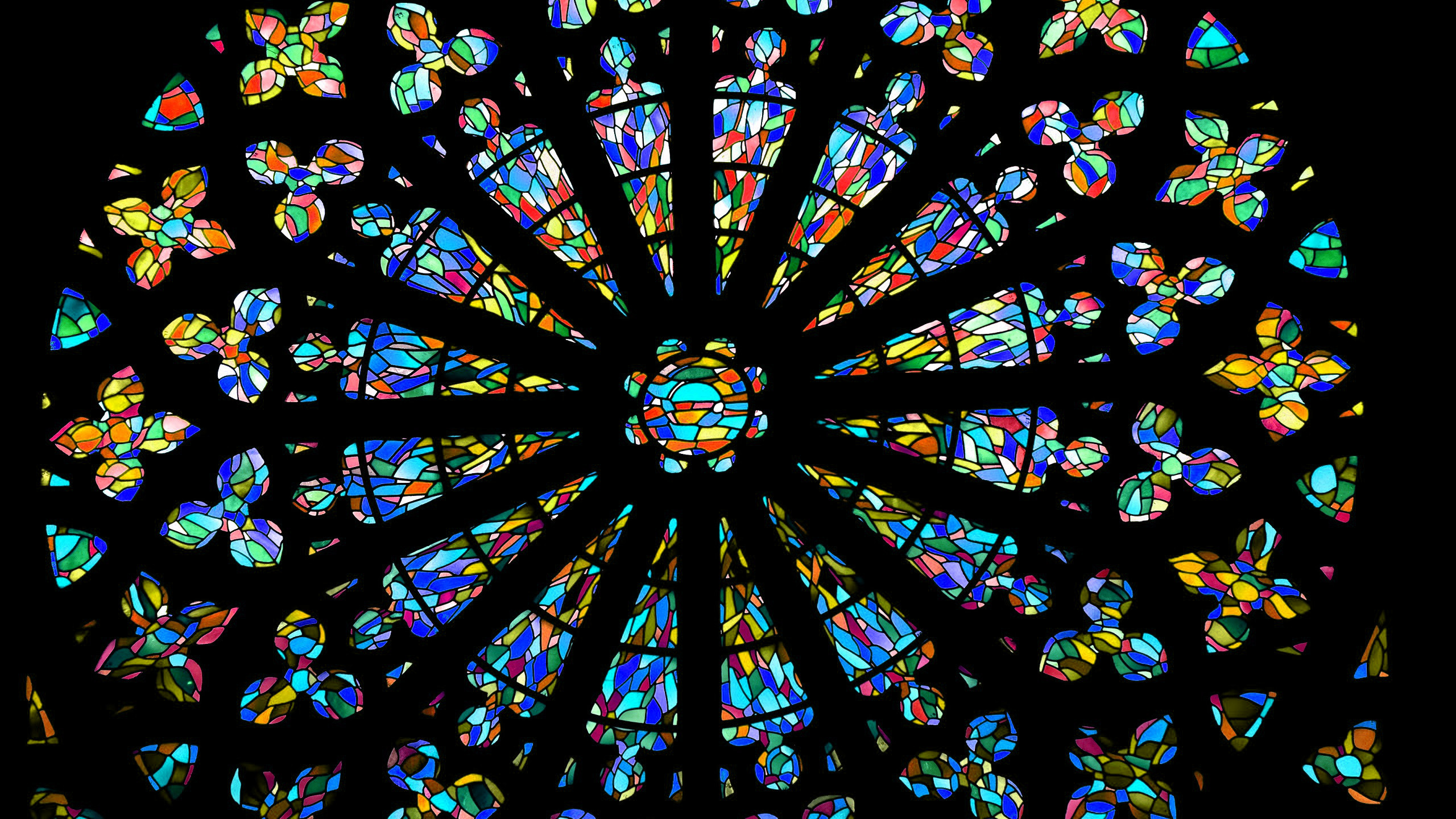 2560x1440 HD wallpaper church windows with stained glass