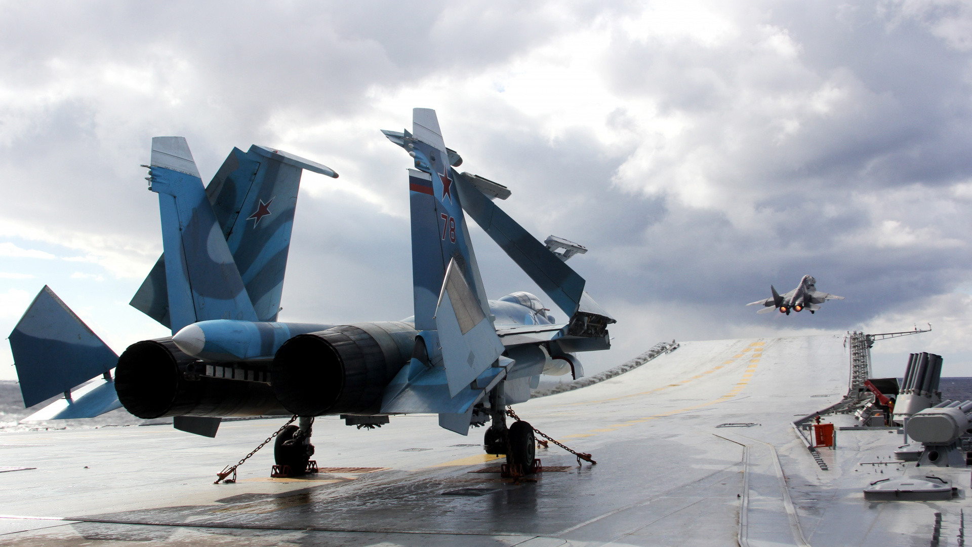 1920x1080  wallpaper Sukhoi SU 33, Jet Military Plane