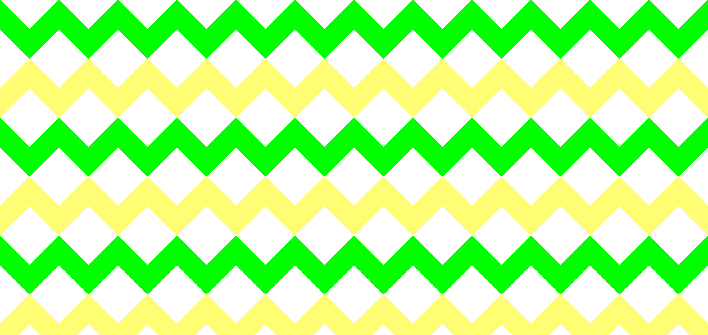 2280x1080 #00FF00 Light Lime Green #FFFD74 Butter Yellow Chevron Stripes White  Background