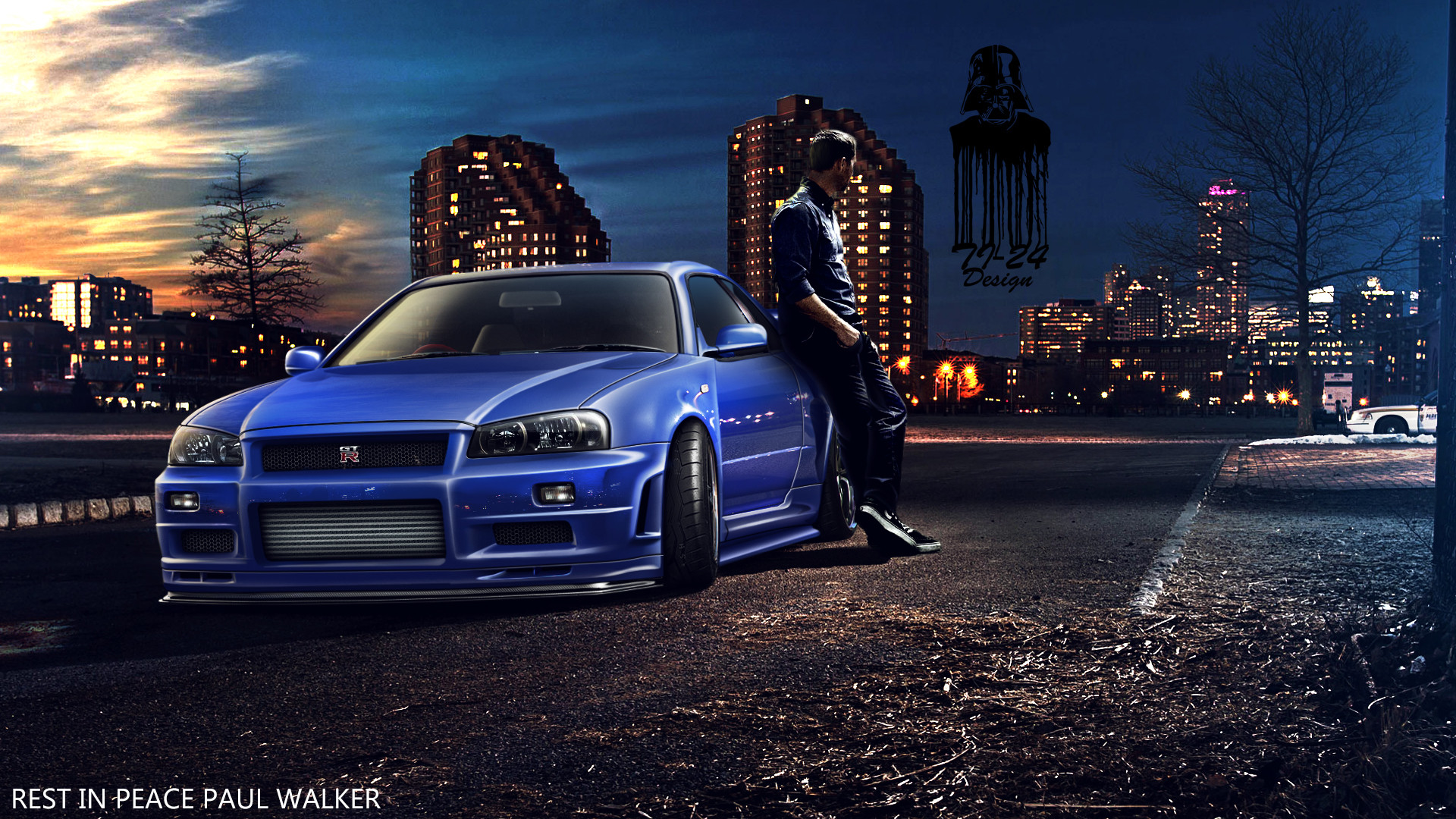 1920x1080 Nissan Skyline GT R R34 Back Pose Wallpaper