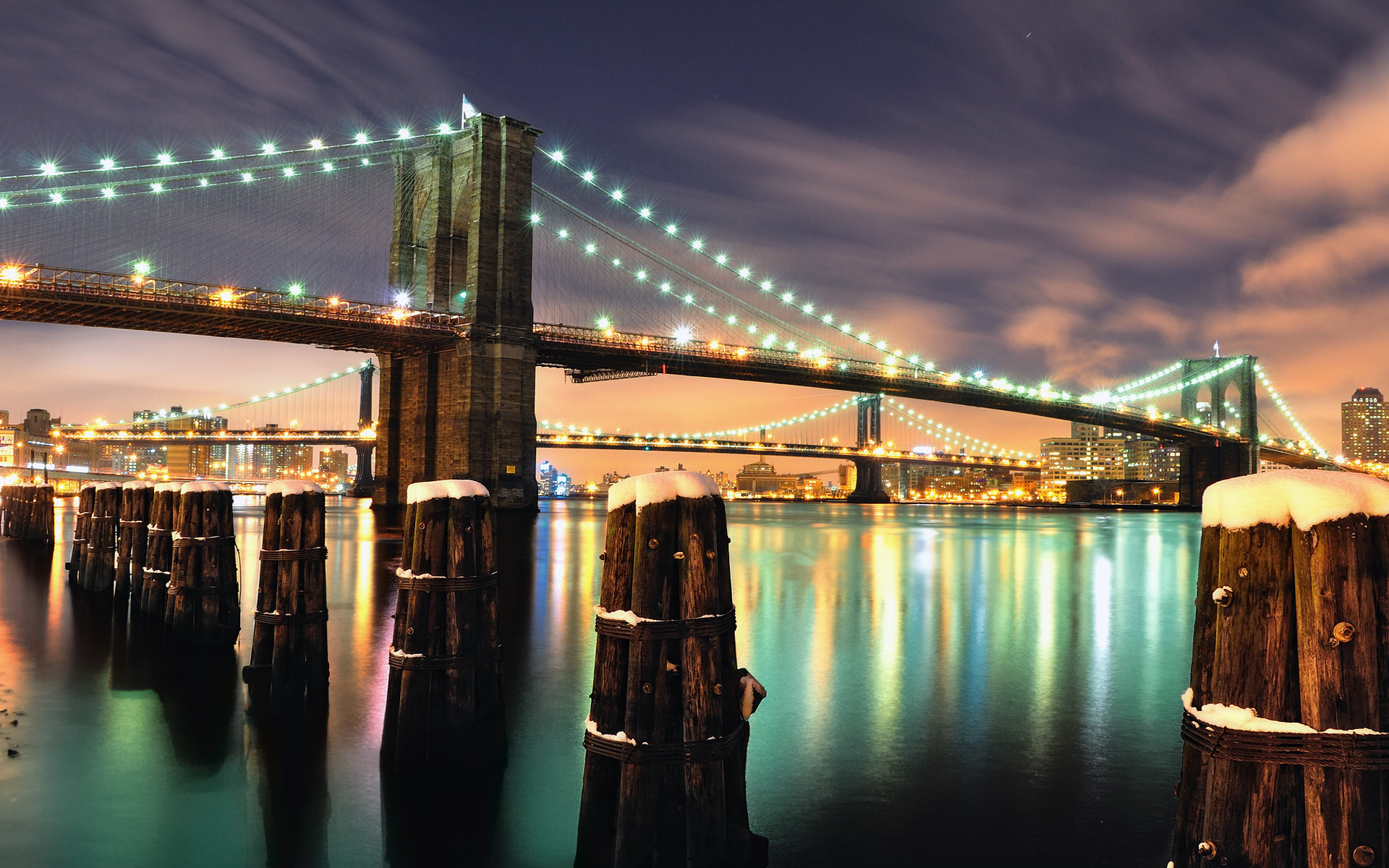 1920x1200 bridge, screensavers, brooklyn, wallpaper, christmas, cities, pictures .