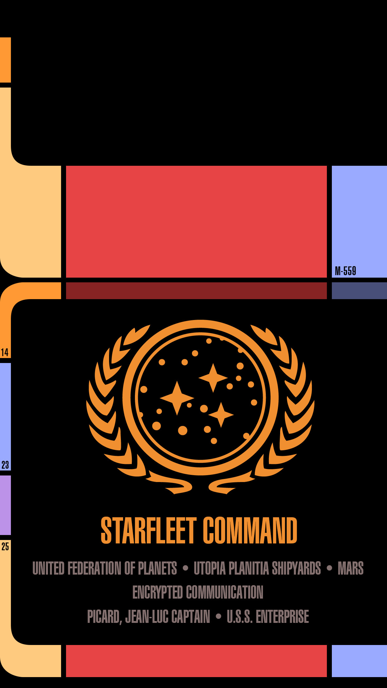 1242x2208 I made a Star Trek LCARS Wallpaper for android phones