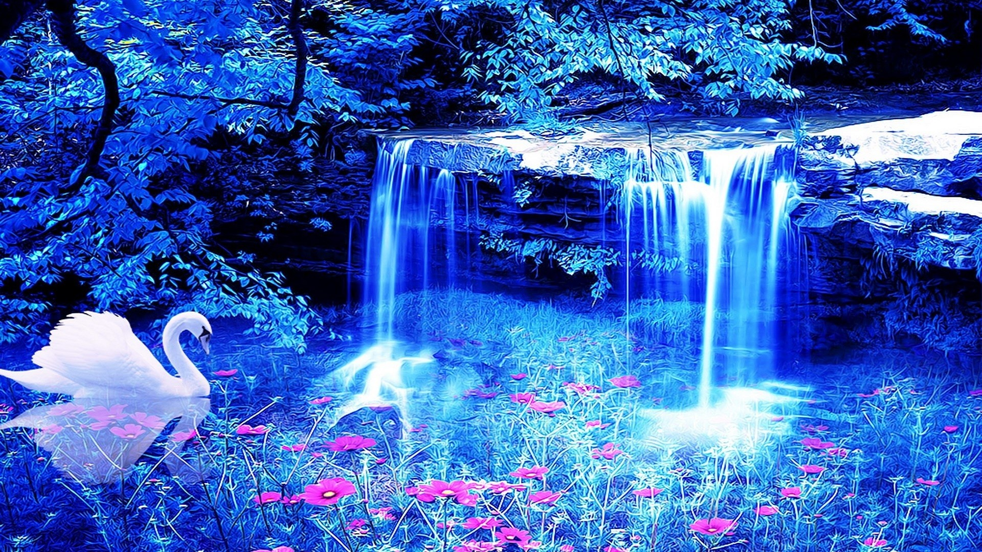 Beautiful Waterfall Wallpaper 50 images